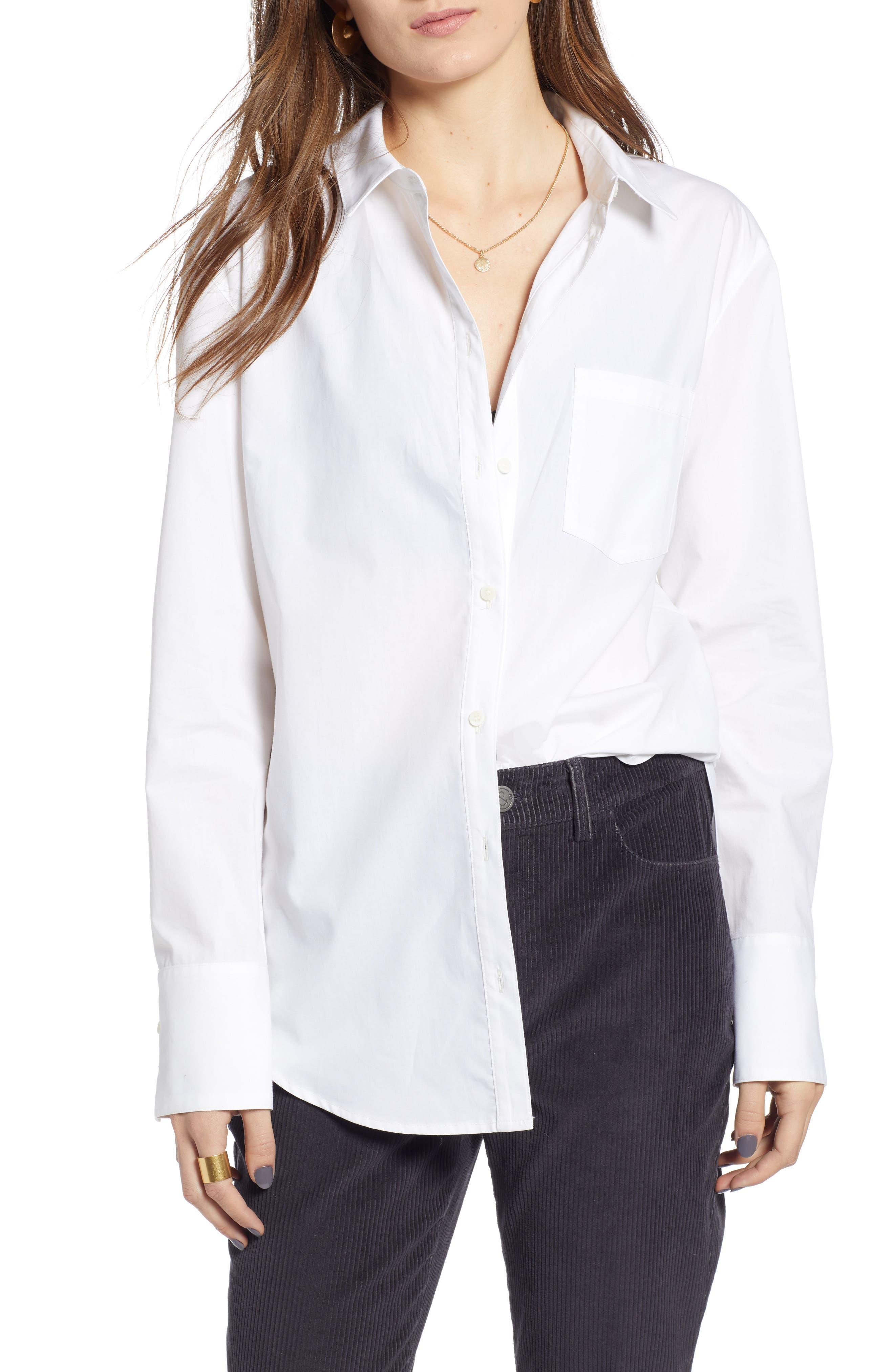 Boyfriend Oxford Shirt,                         Main,                         color, 100