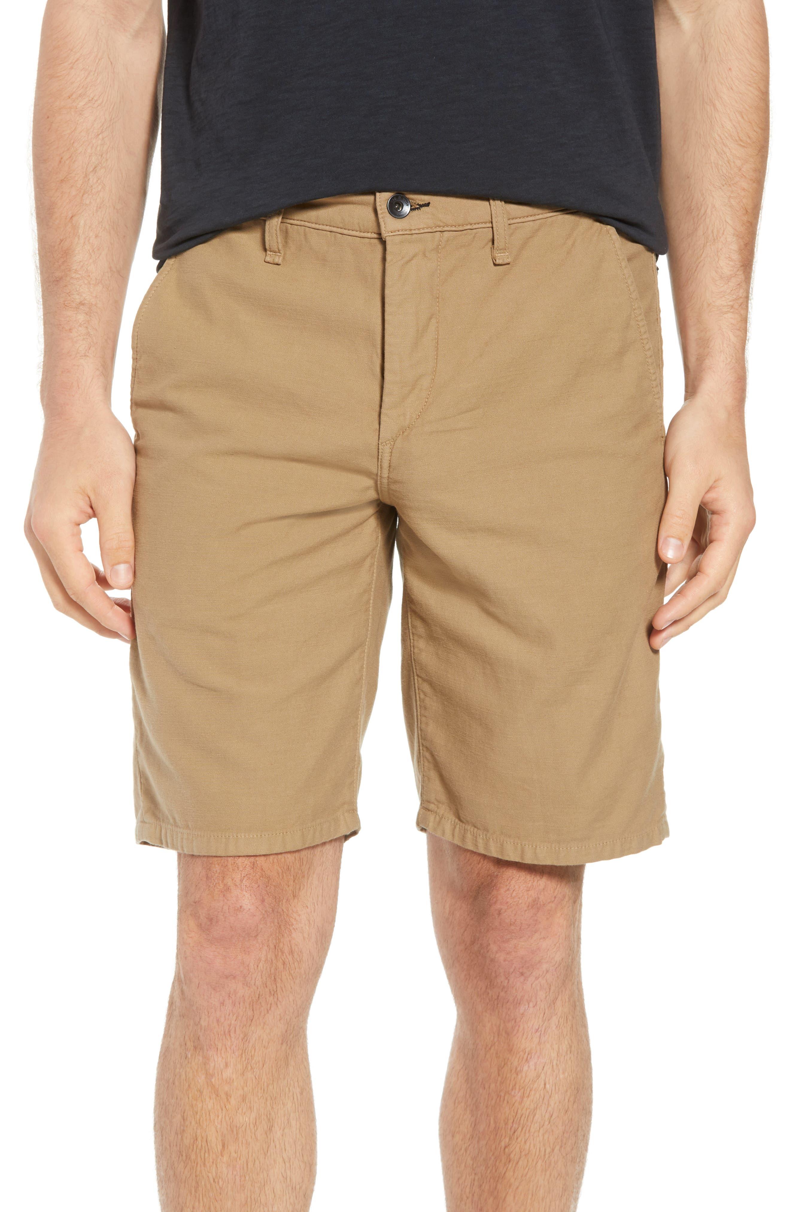 Straight Leg Chino Shorts,                         Main,                         color, KHAKI