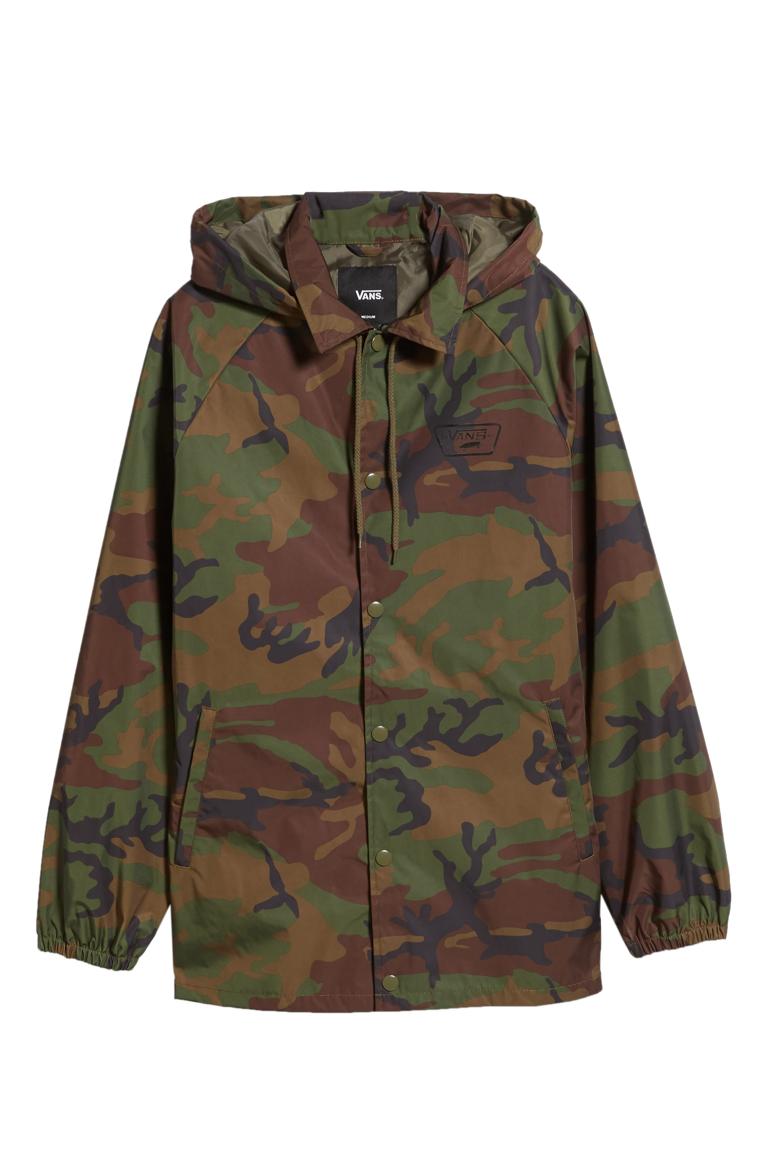 Torrey Water-Resistant Jacket with Detachable Hood,                             Alternate thumbnail 6, color,                             CAMO
