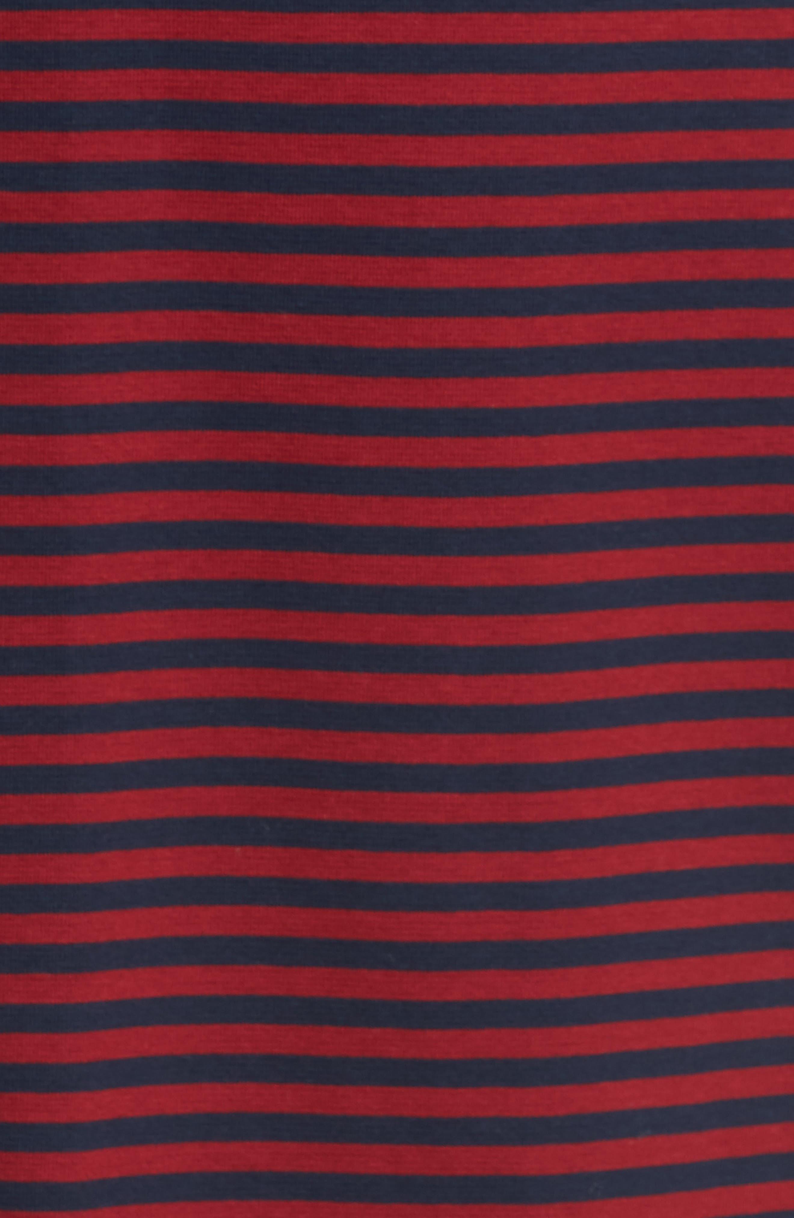 Stripe Long Sleeve T-Shirt,                             Alternate thumbnail 5, color,                             611