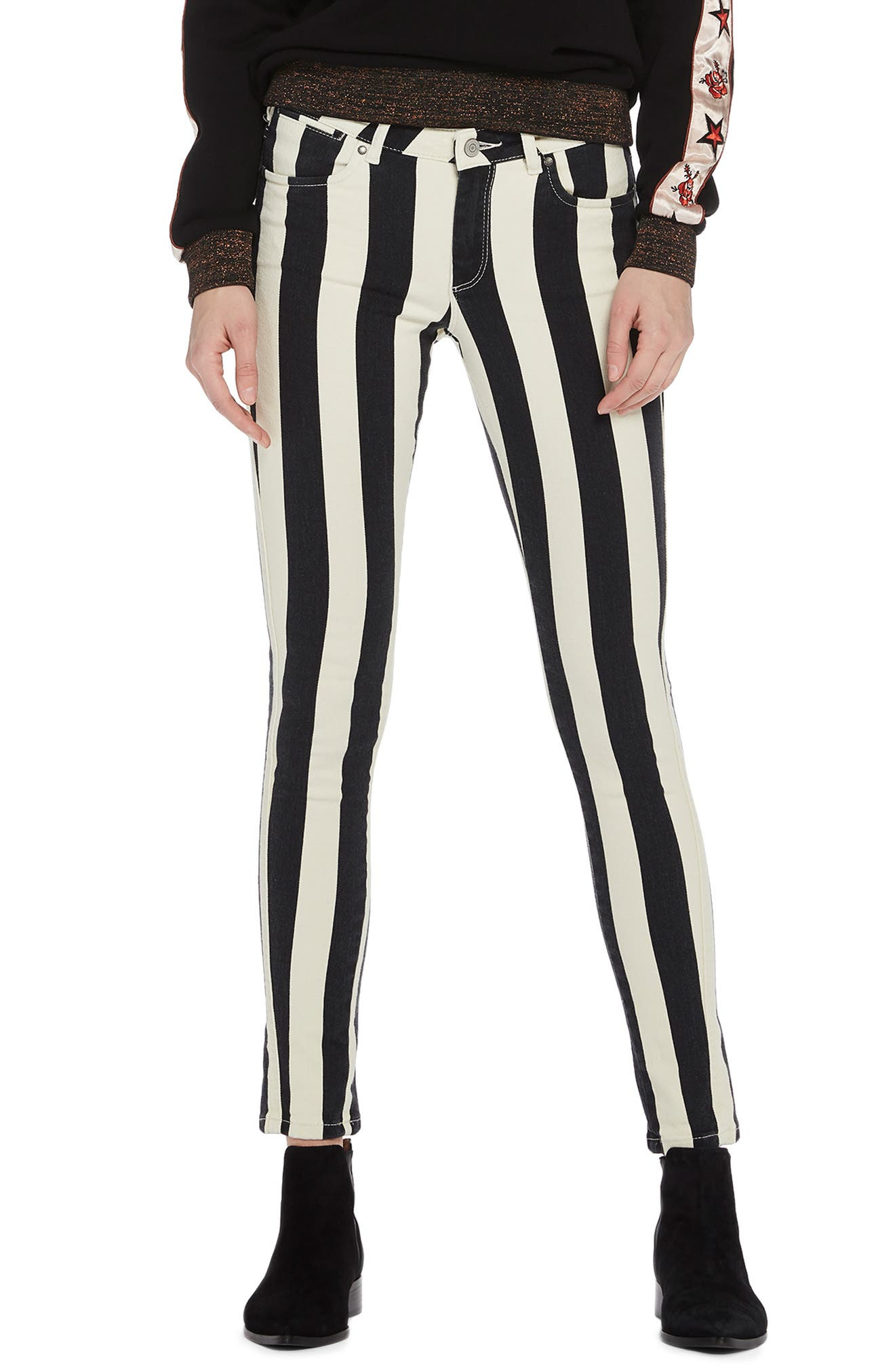 La Bohemienne Skinny Fit Pants,                             Main thumbnail 1, color,                             400