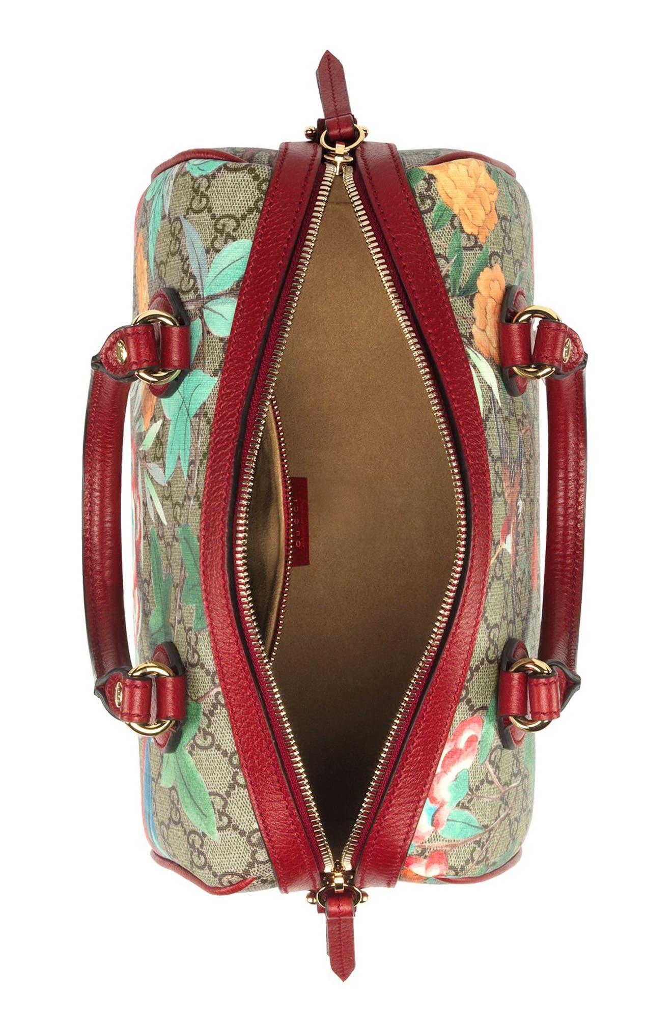 Tian Boston GG Supreme Small Canvas Duffel Bag,                             Alternate thumbnail 3, color,