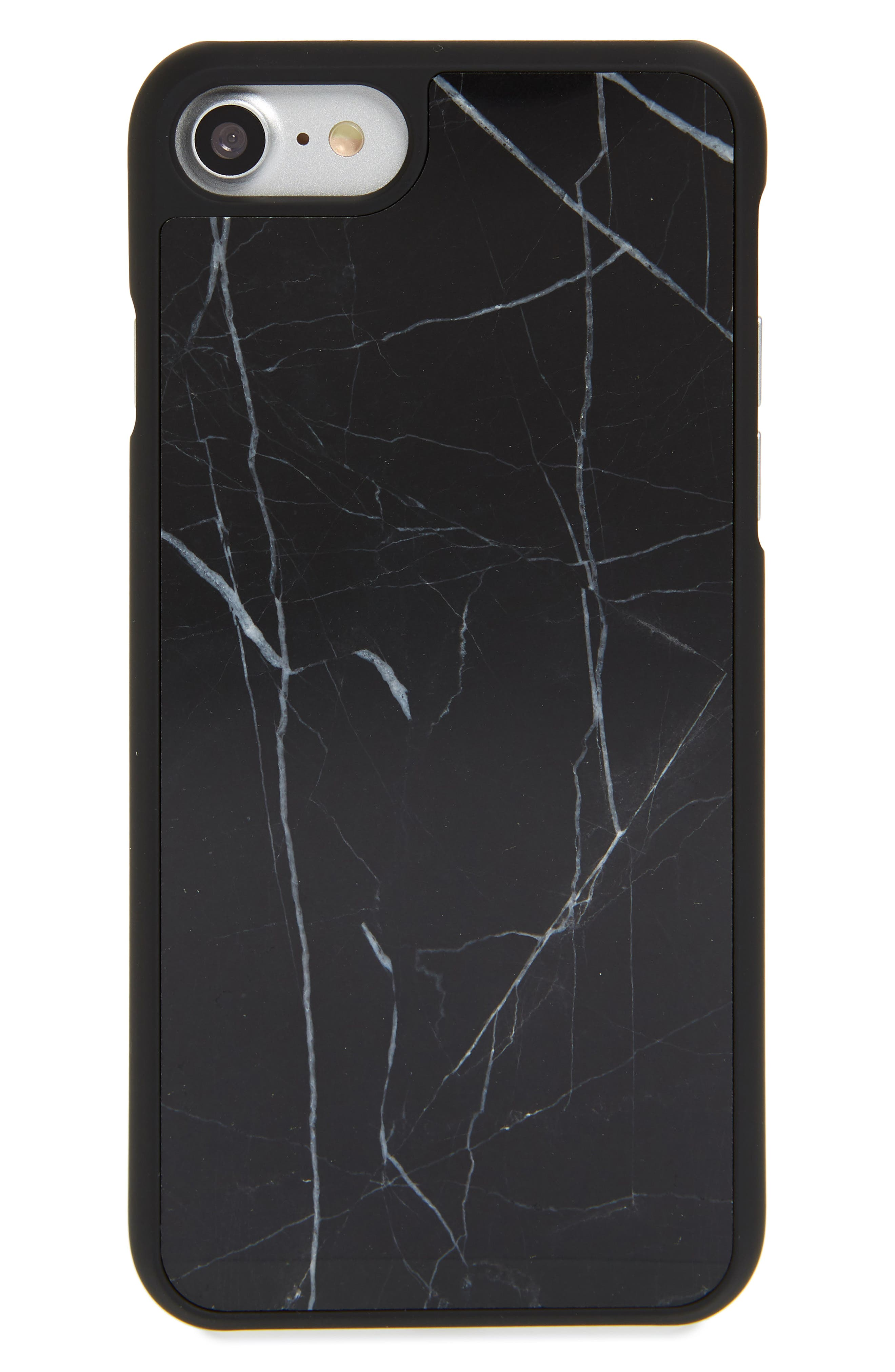 Genuine Marble iPhone 6/6s/7/8 Plus Case,                         Main,                         color, BLACK
