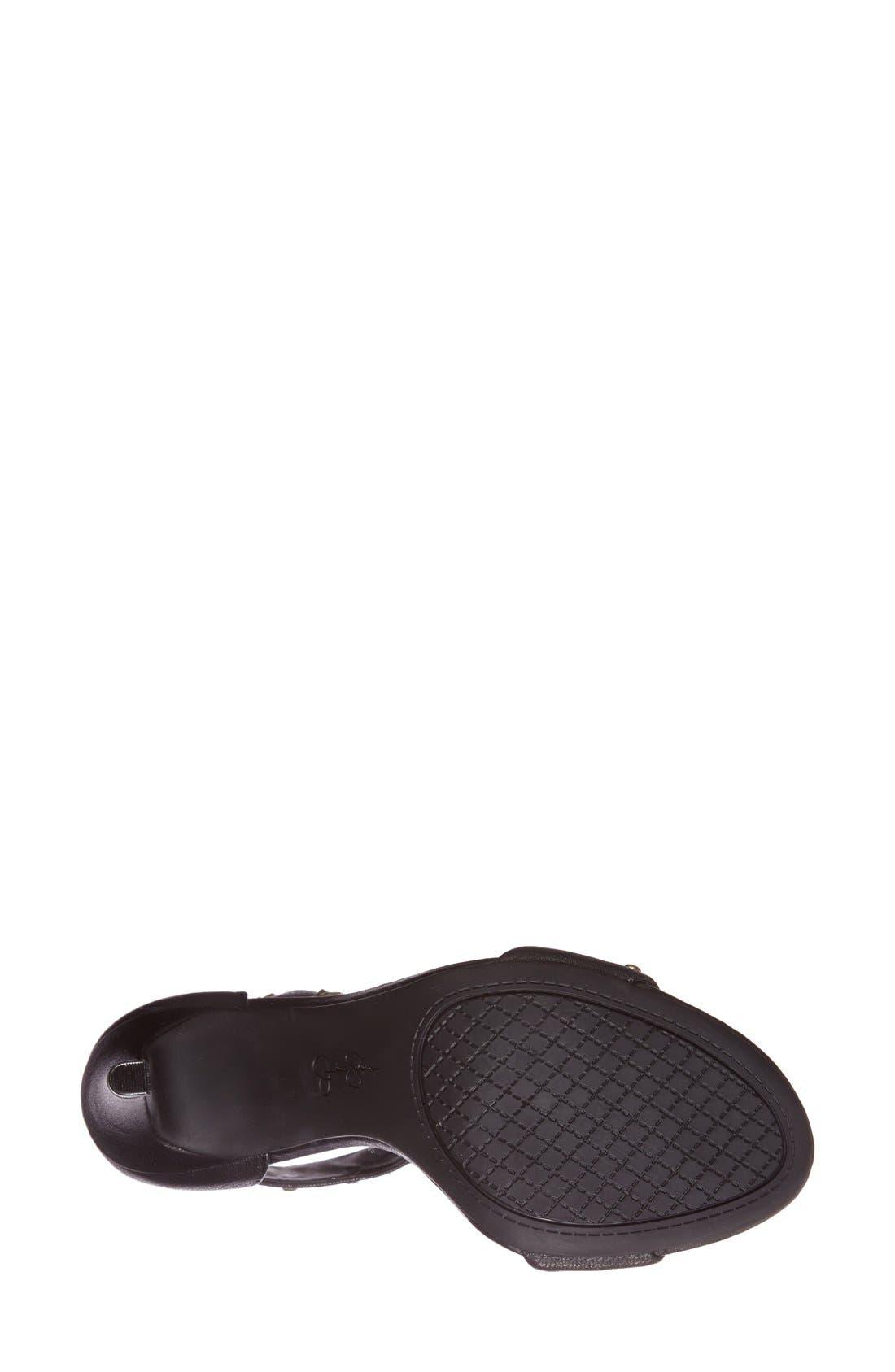'Elonna' Studded Ankle Cuff Sandal,                             Alternate thumbnail 2, color,                             001