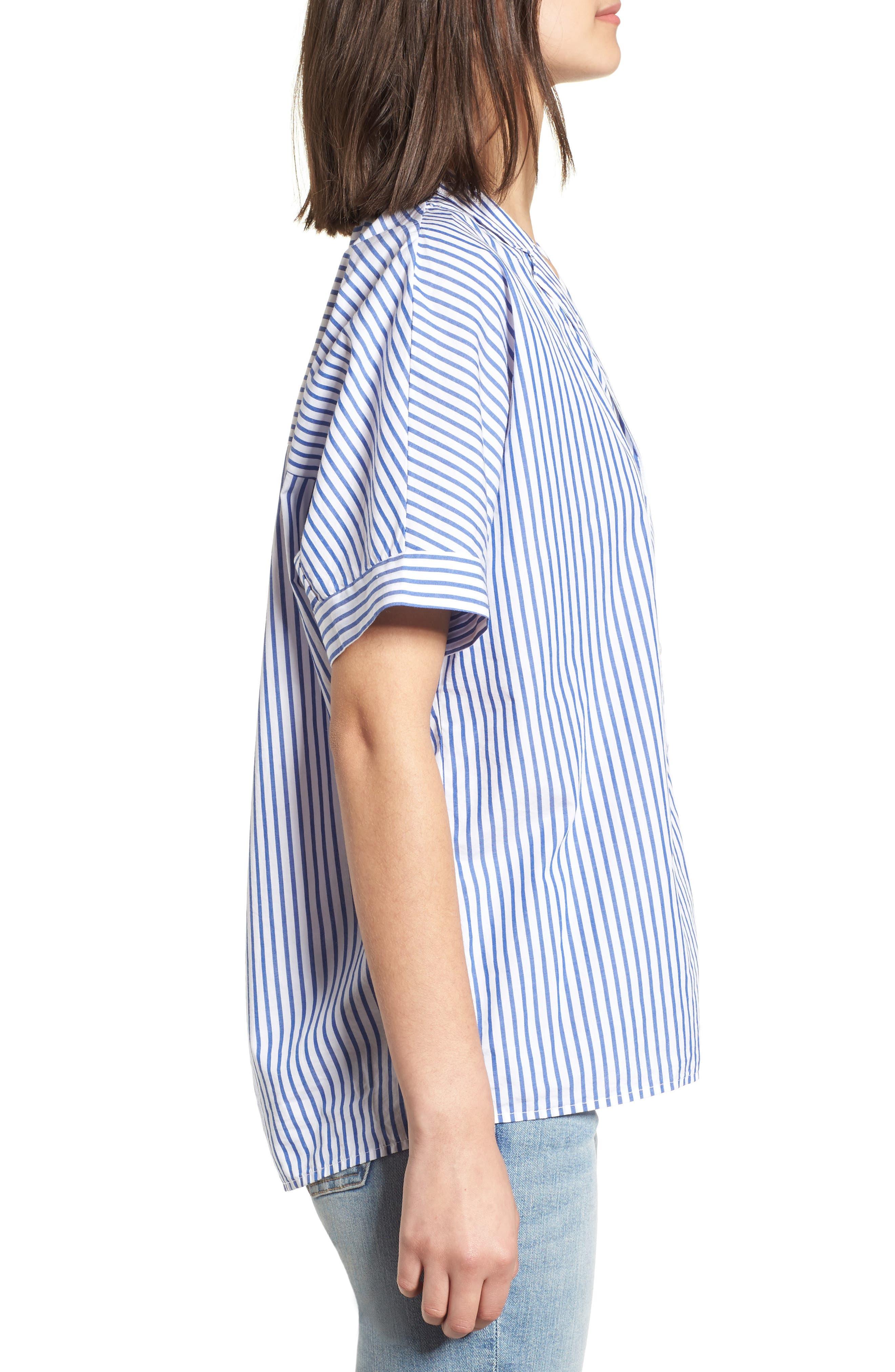 Stripe Oxford Shirt,                             Alternate thumbnail 3, color,                             422