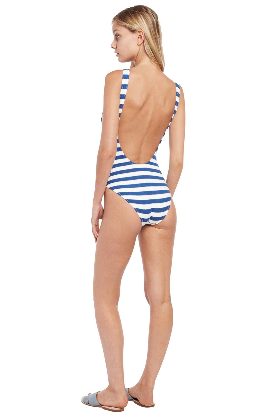 'The Anne-Marie' Scoop Back One-Piece Swimsuit,                             Alternate thumbnail 4, color,                             400
