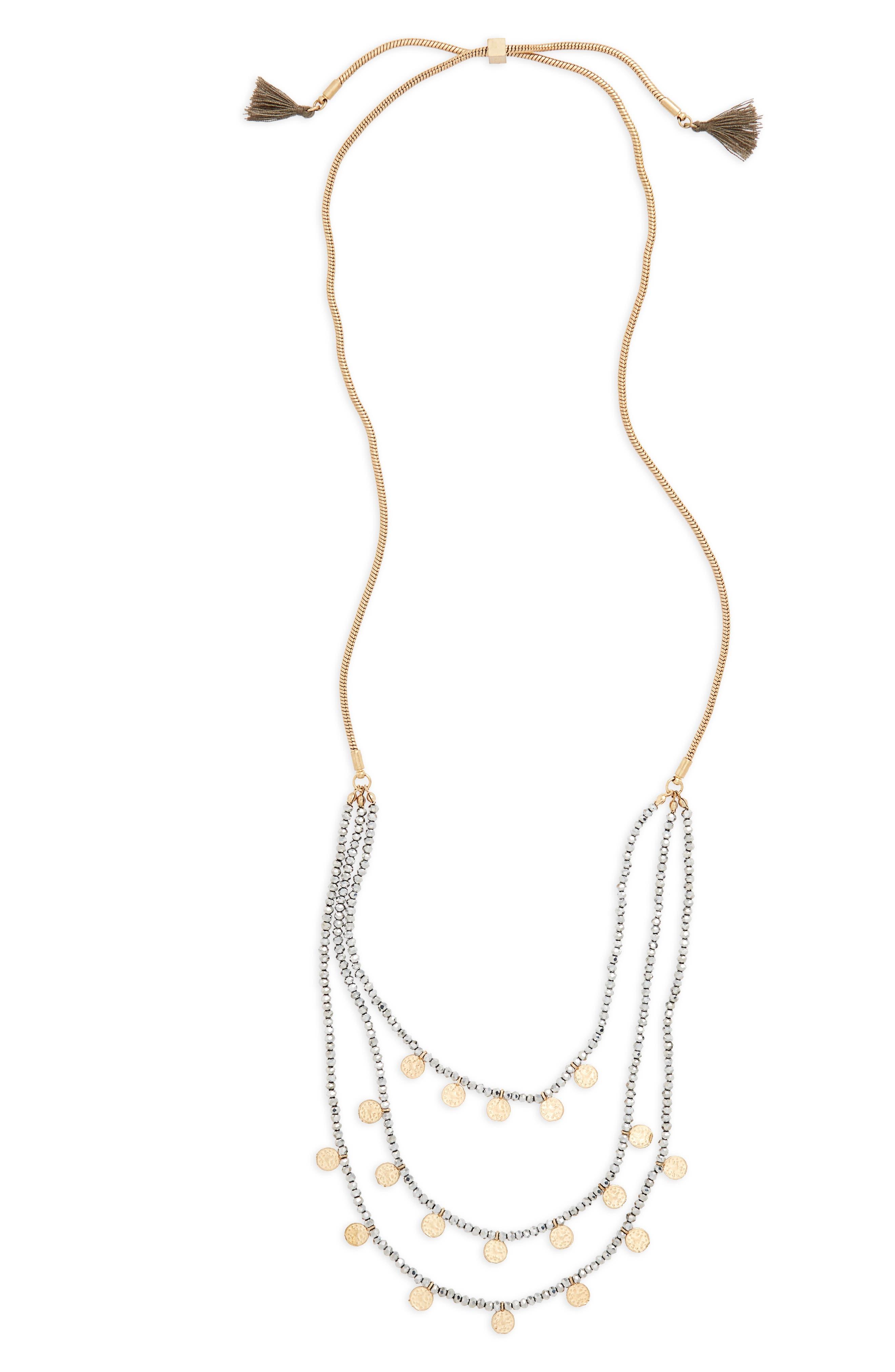 Medallion & Bead Necklace,                             Main thumbnail 1, color,