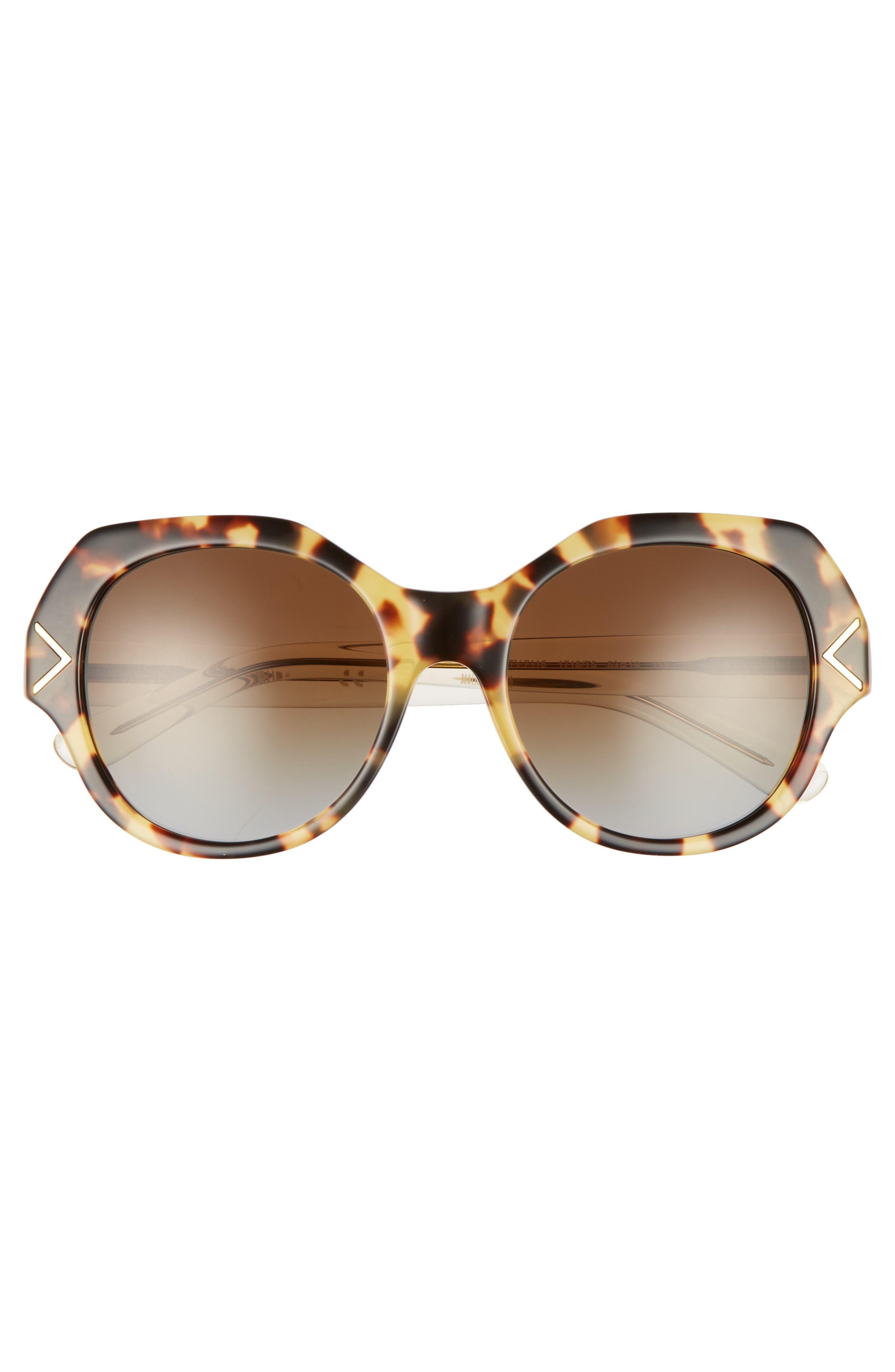 53mm Polarized Gradient Geometric Sunglasses,                             Alternate thumbnail 5, color,