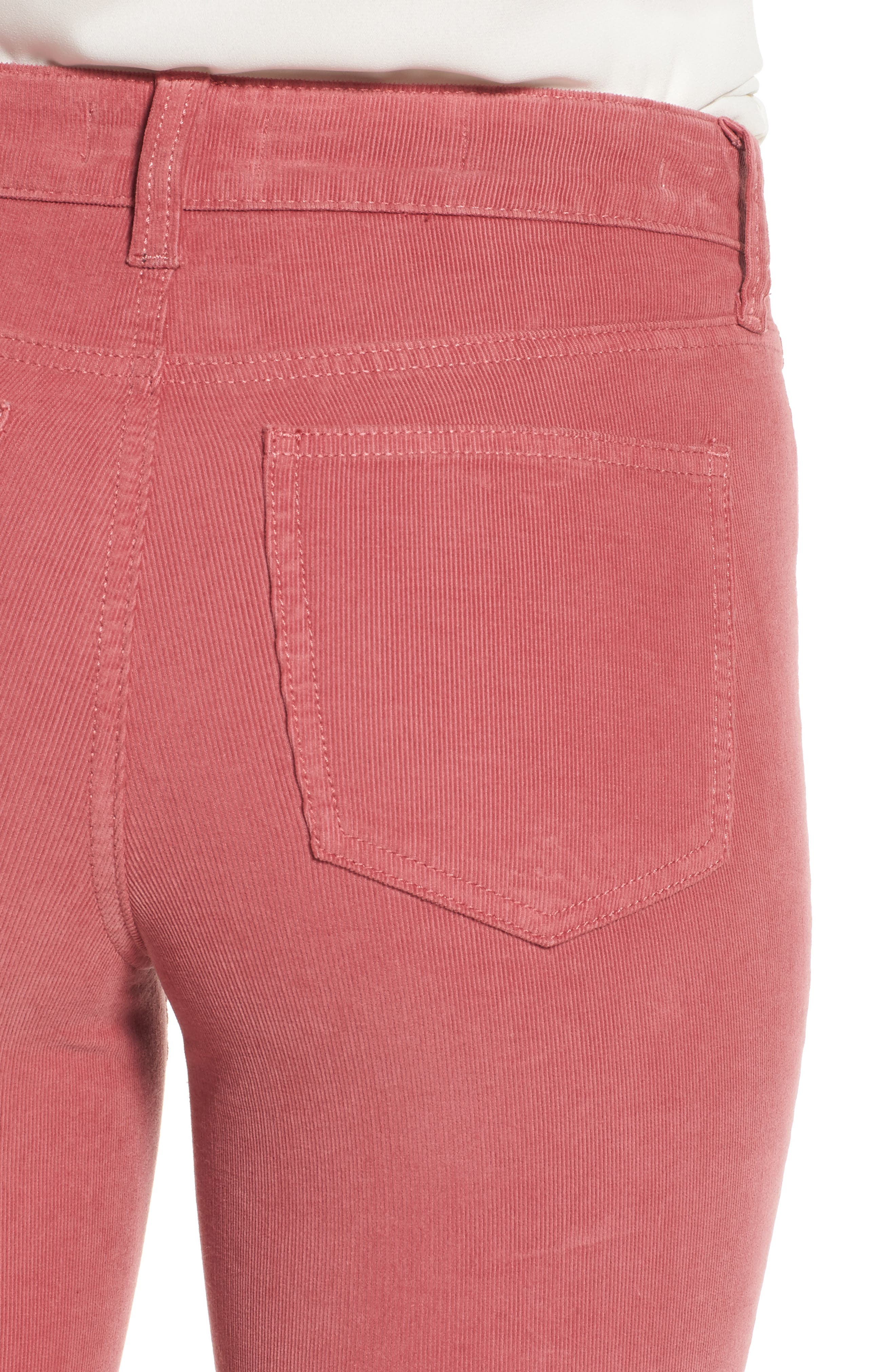Alina Frayed Stretch Corduroy Ankle Jeans,                             Alternate thumbnail 13, color,