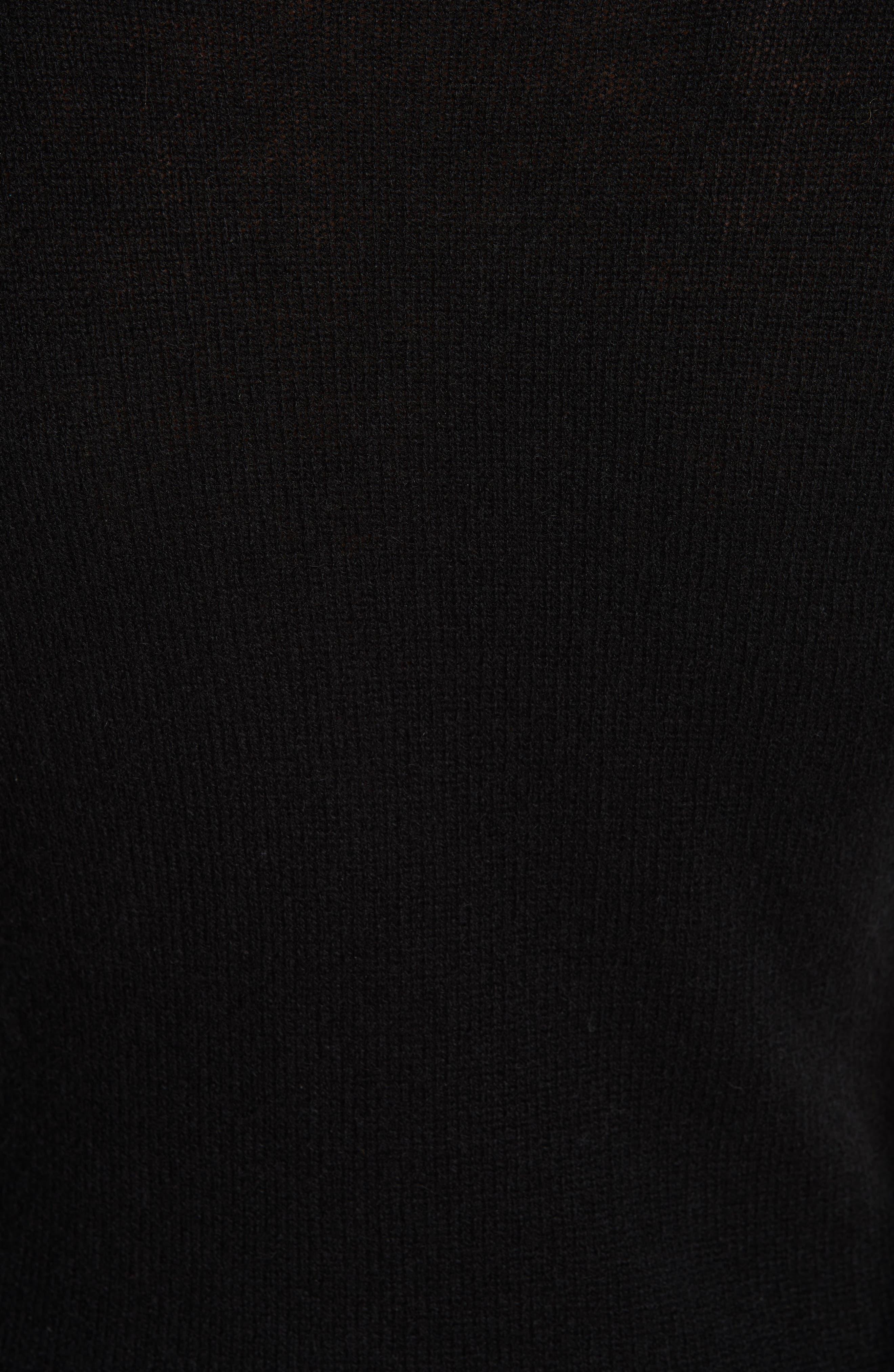 R13,                             Distressed Cashmere Turtleneck Sweater,                             Alternate thumbnail 5, color,                             001