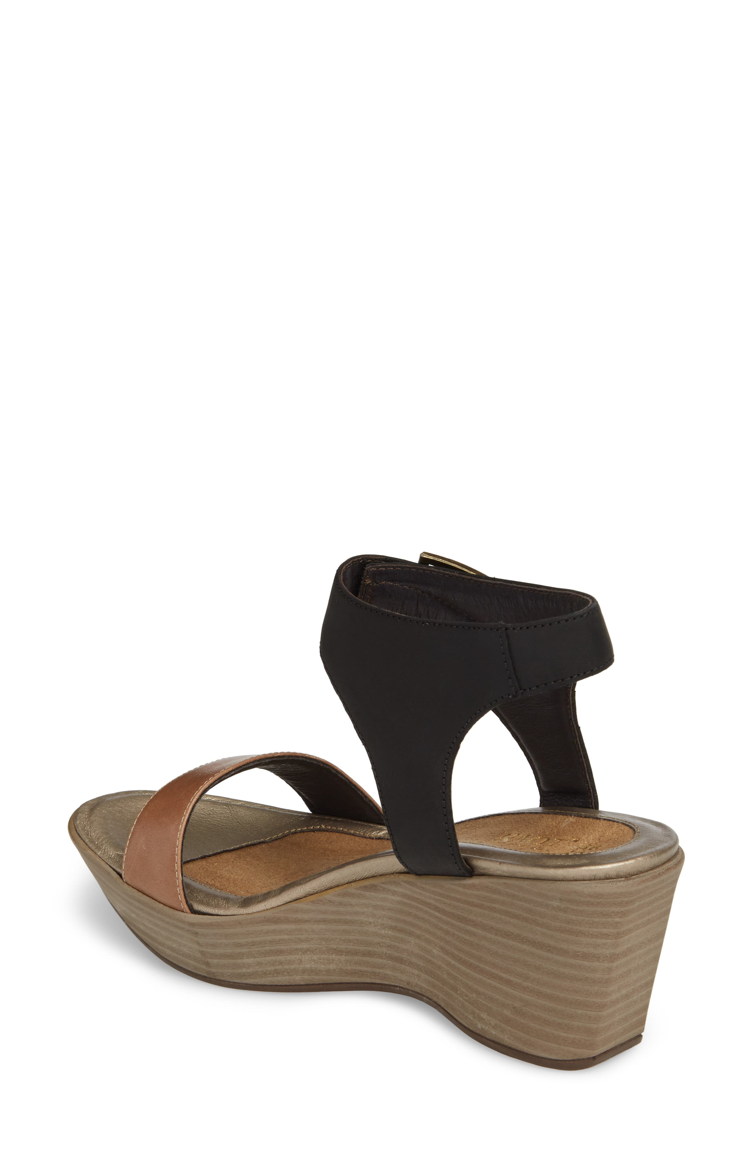Caprice Wedge Sandal,                             Alternate thumbnail 2, color,                             TAN LEATHER