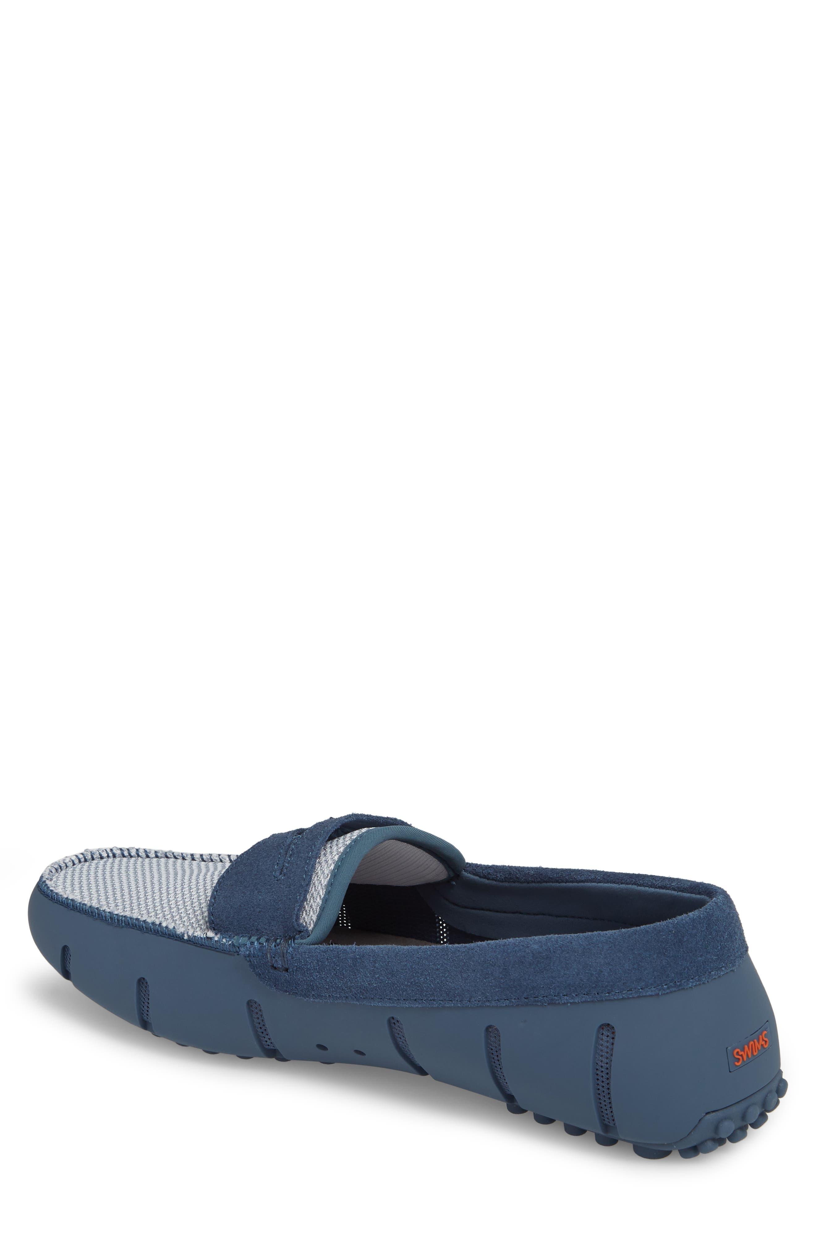 Driving Shoe,                             Alternate thumbnail 2, color,                             SLATE/ WHITE FABRIC