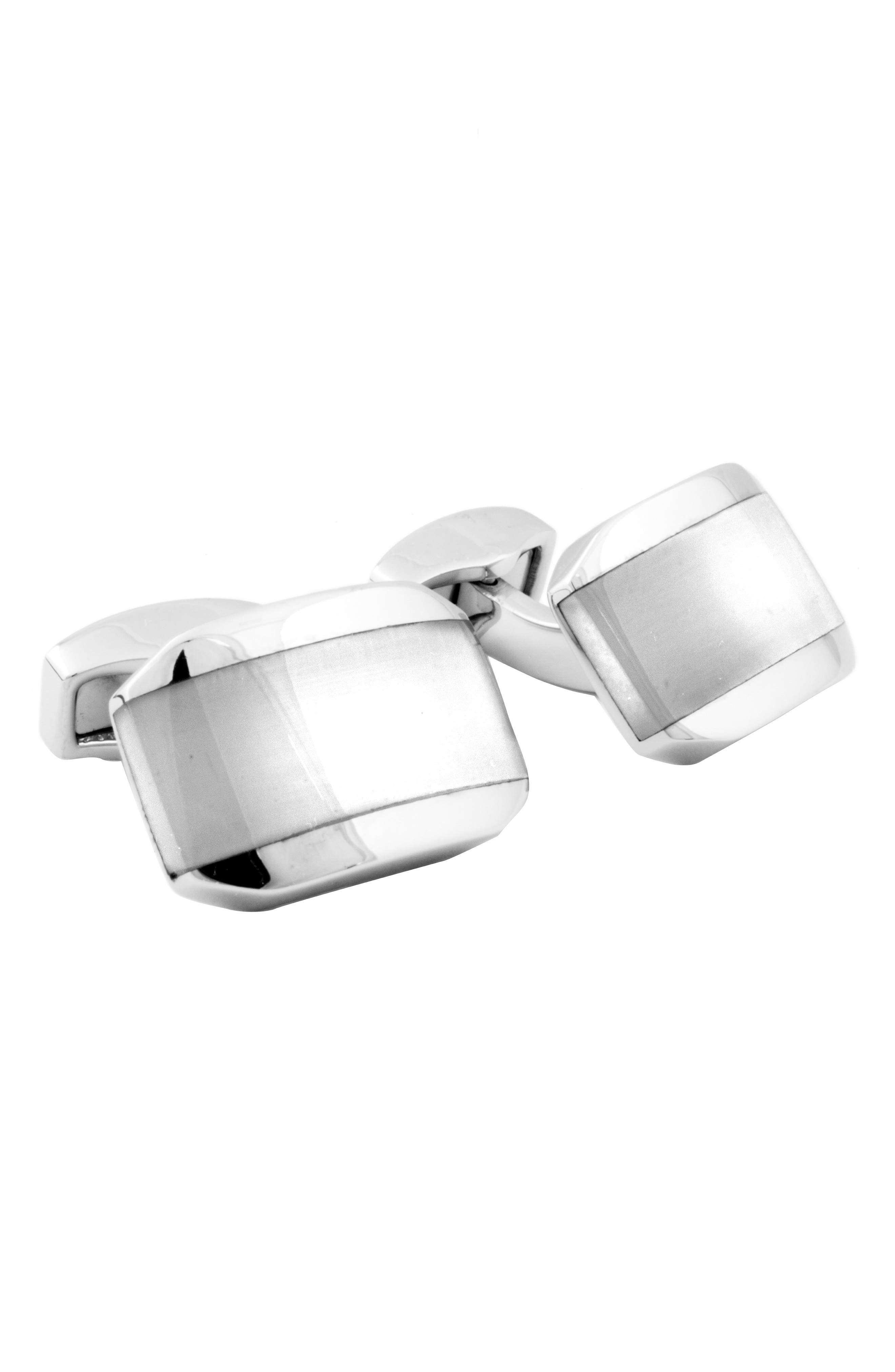 Fiber Optic Cuff Links,                         Main,                         color, WHITE