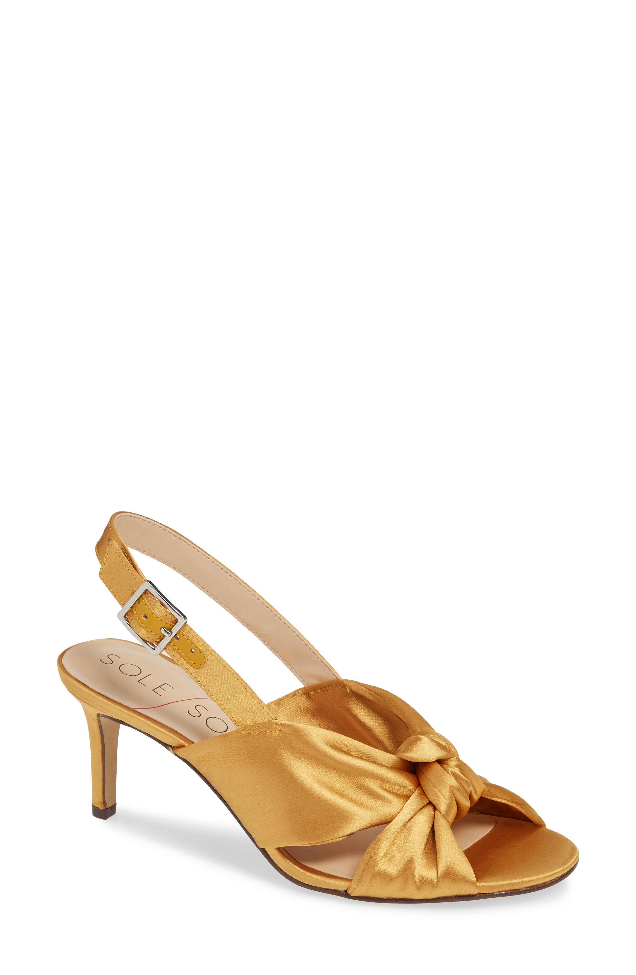 Sole Society Genneene Knotted Slingback Sandal- Metallic