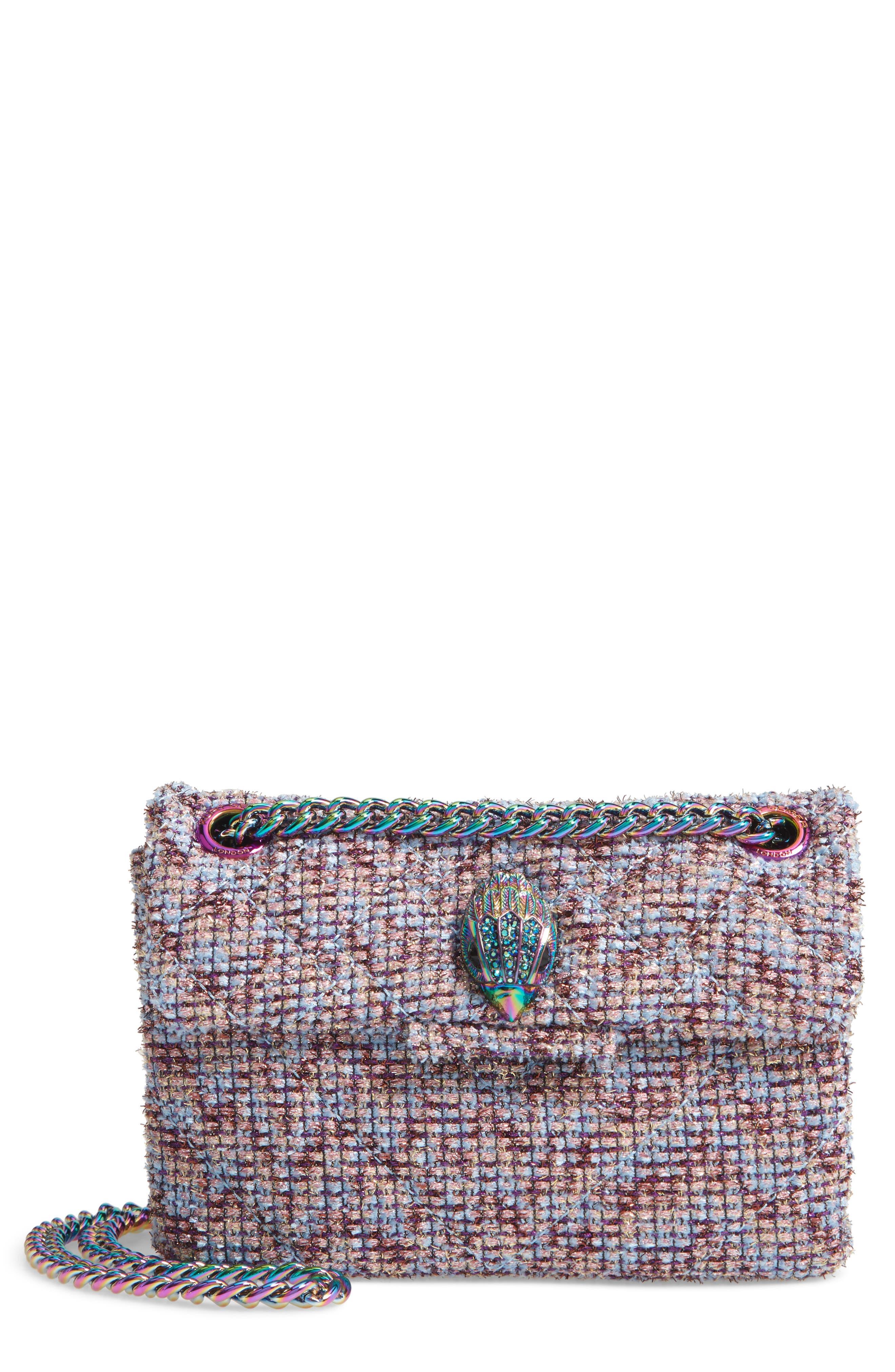Mini Kensington Tweed Crossbody Bag,                             Main thumbnail 1, color,                             PINK