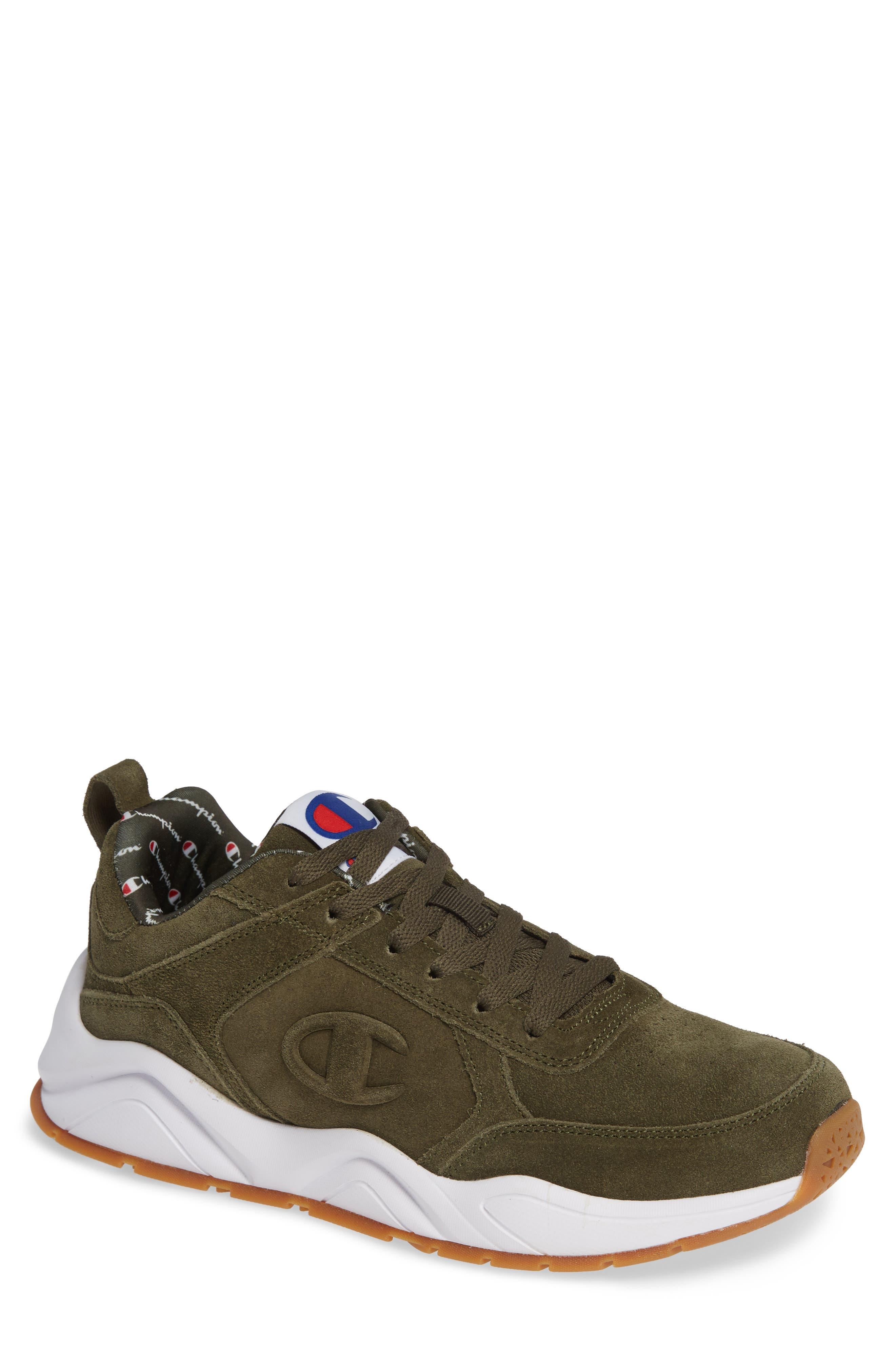 93Eighteen Sneaker,                             Main thumbnail 1, color,                             HIKER GREEN SUEDE