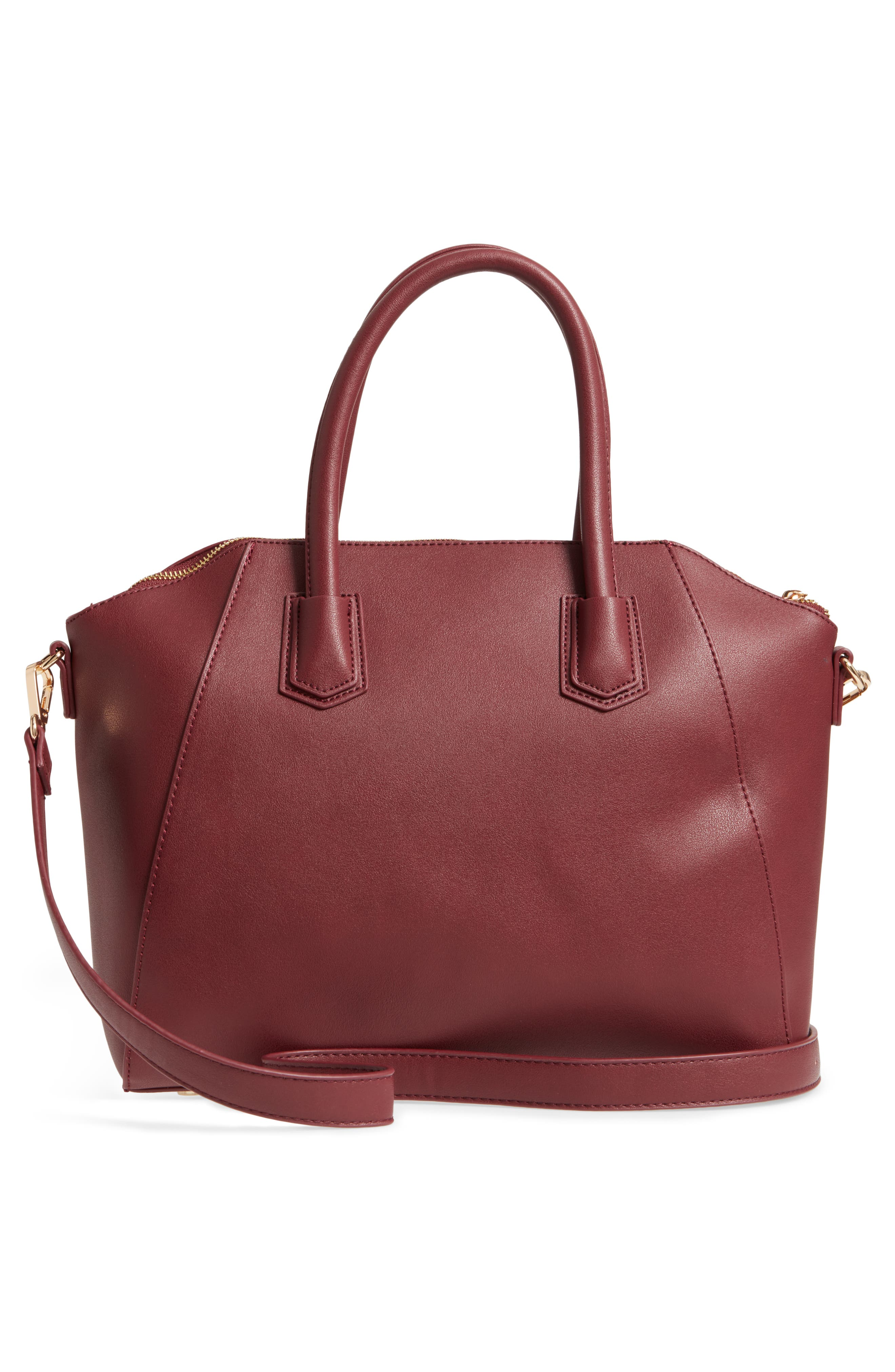 Chase Faux Leather Satchel,                             Alternate thumbnail 9, color,