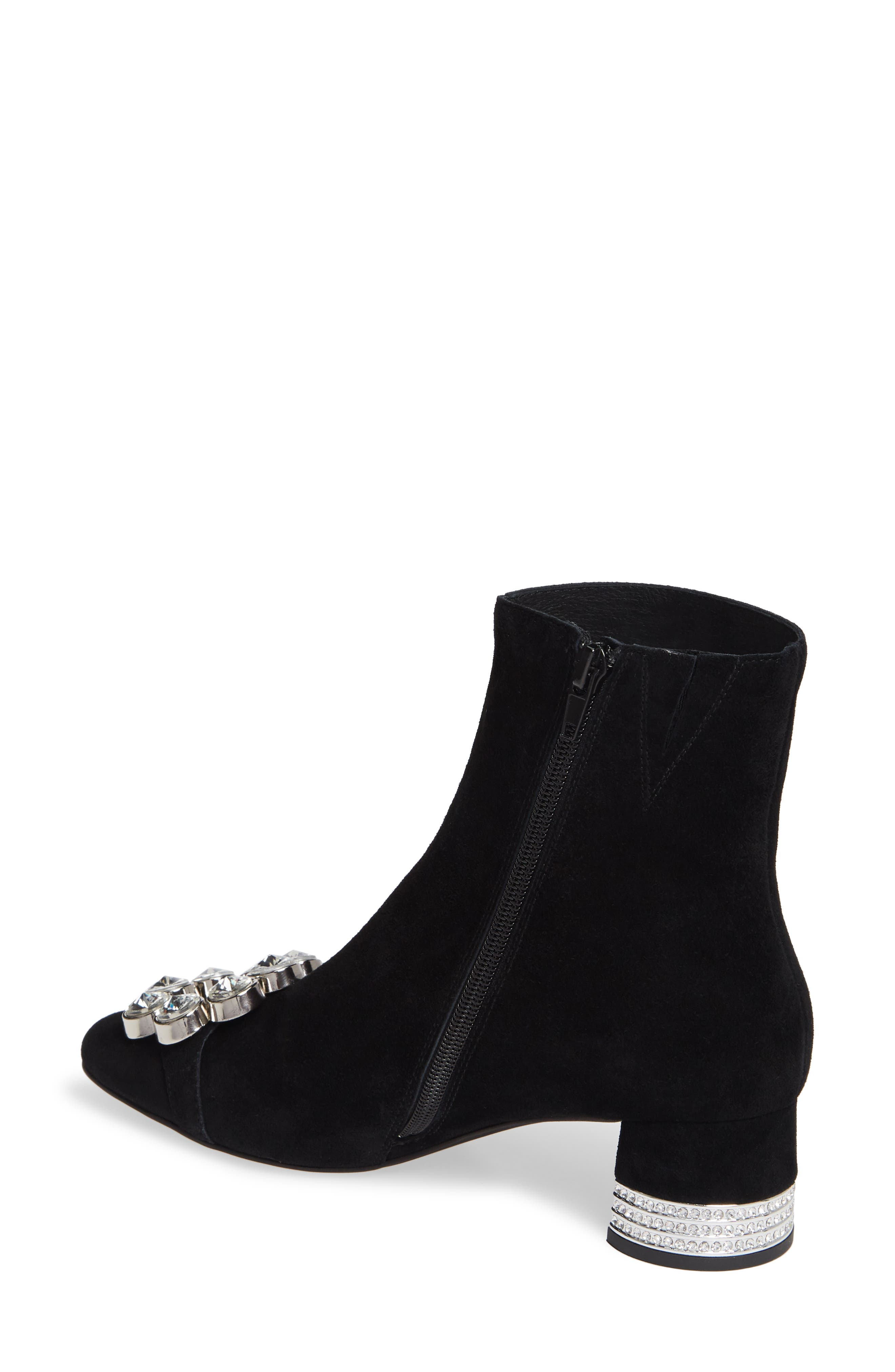 Sumatra Embellished Bootie,                             Alternate thumbnail 2, color,                             BLACK SUEDE