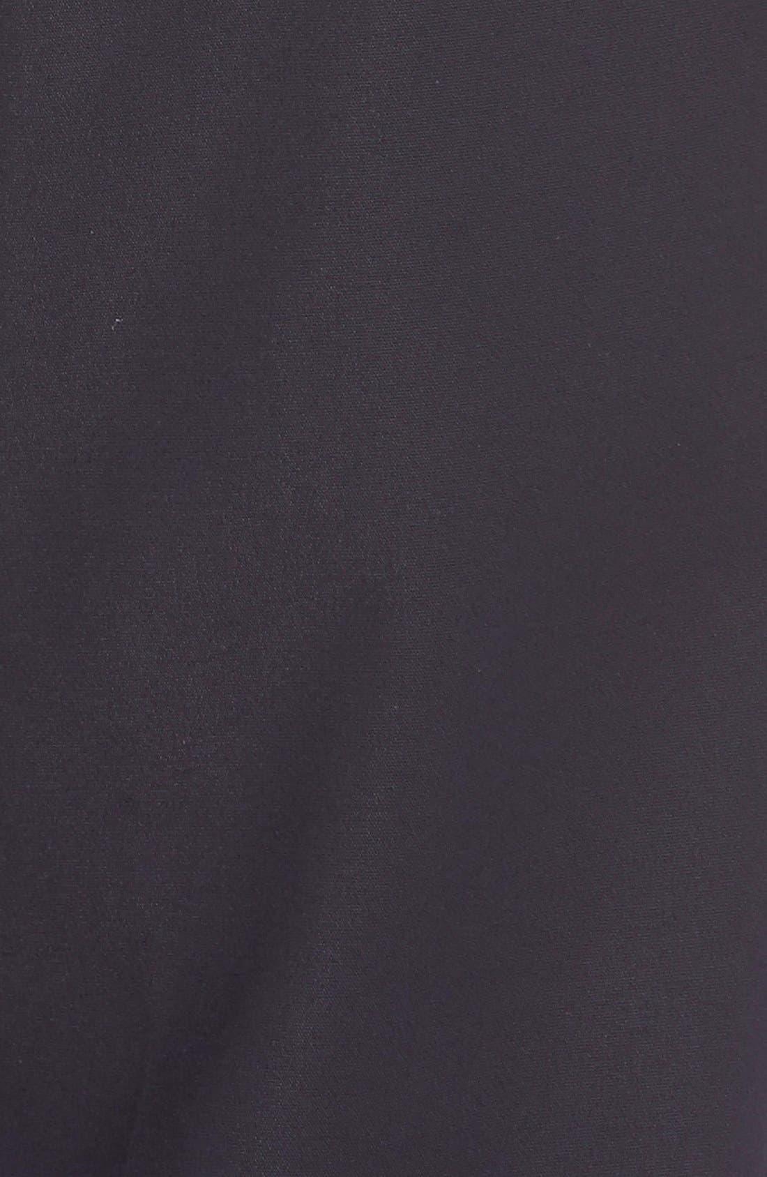 'Emma' Crop Micro Ottoman Pants,                             Alternate thumbnail 4, color,                             NAVY
