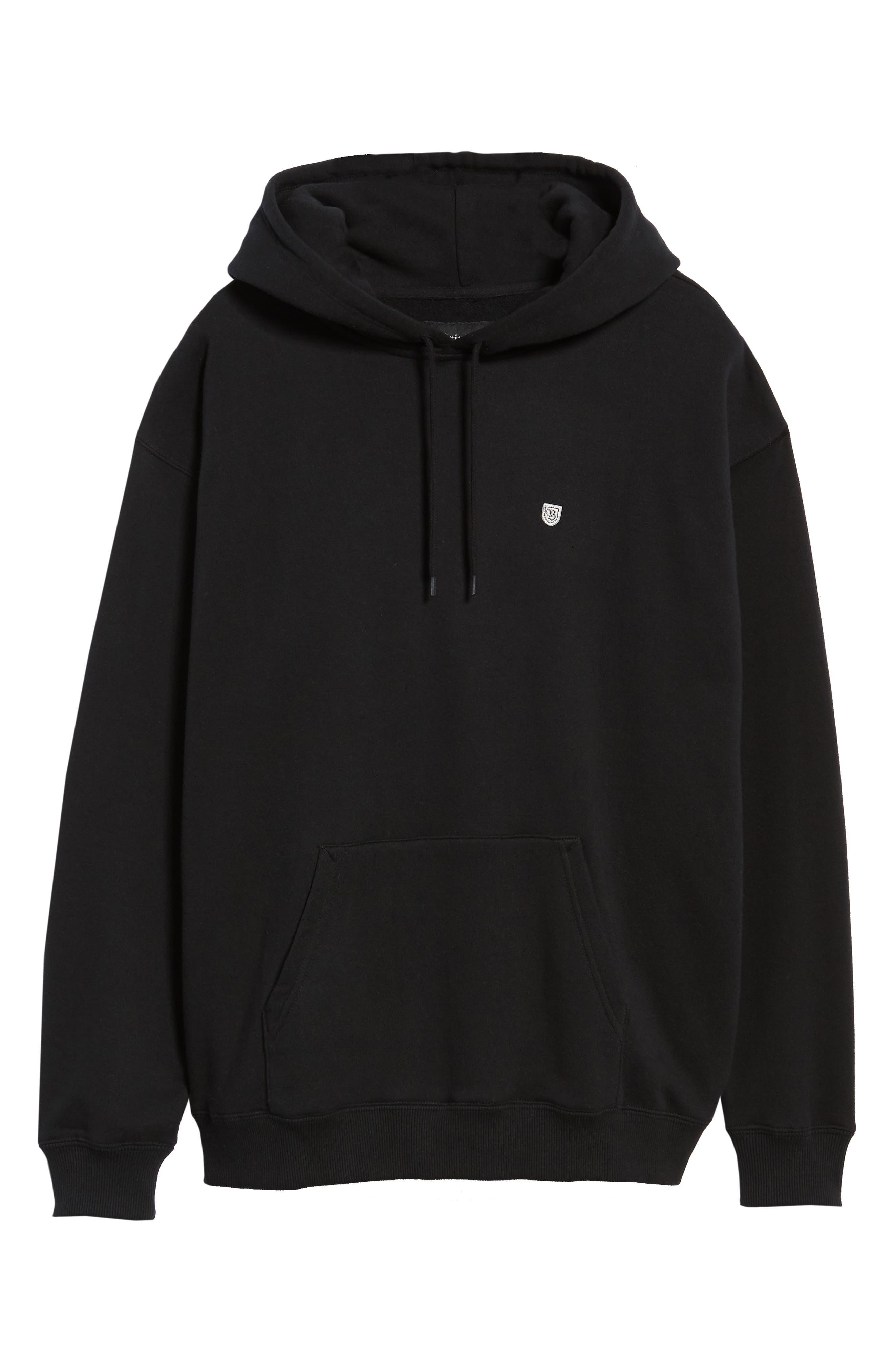 B-Shield Hooded Sweatshirt,                             Alternate thumbnail 6, color,                             001