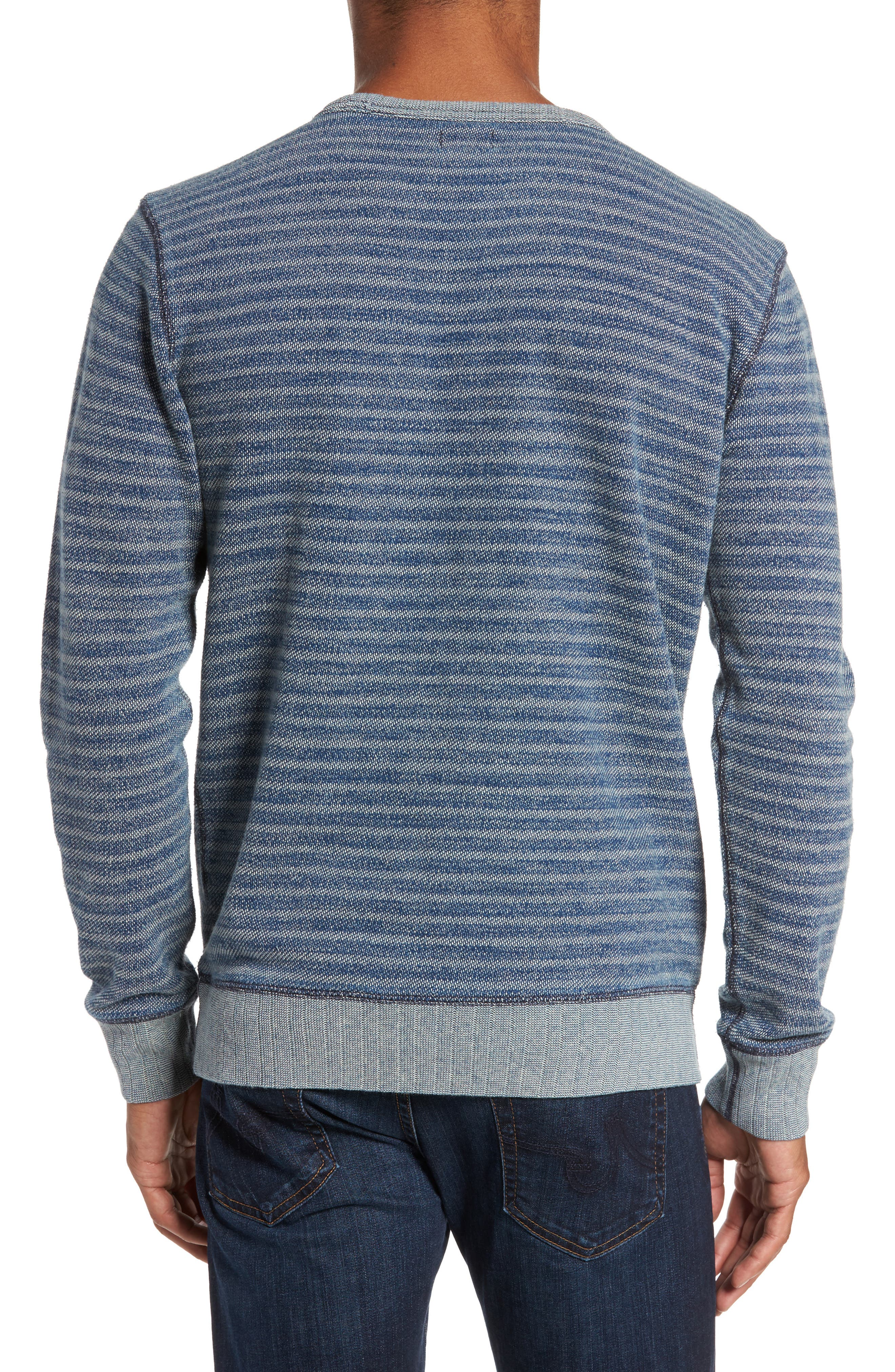 Stripe Crewneck Sweatshirt,                             Alternate thumbnail 2, color,                             402