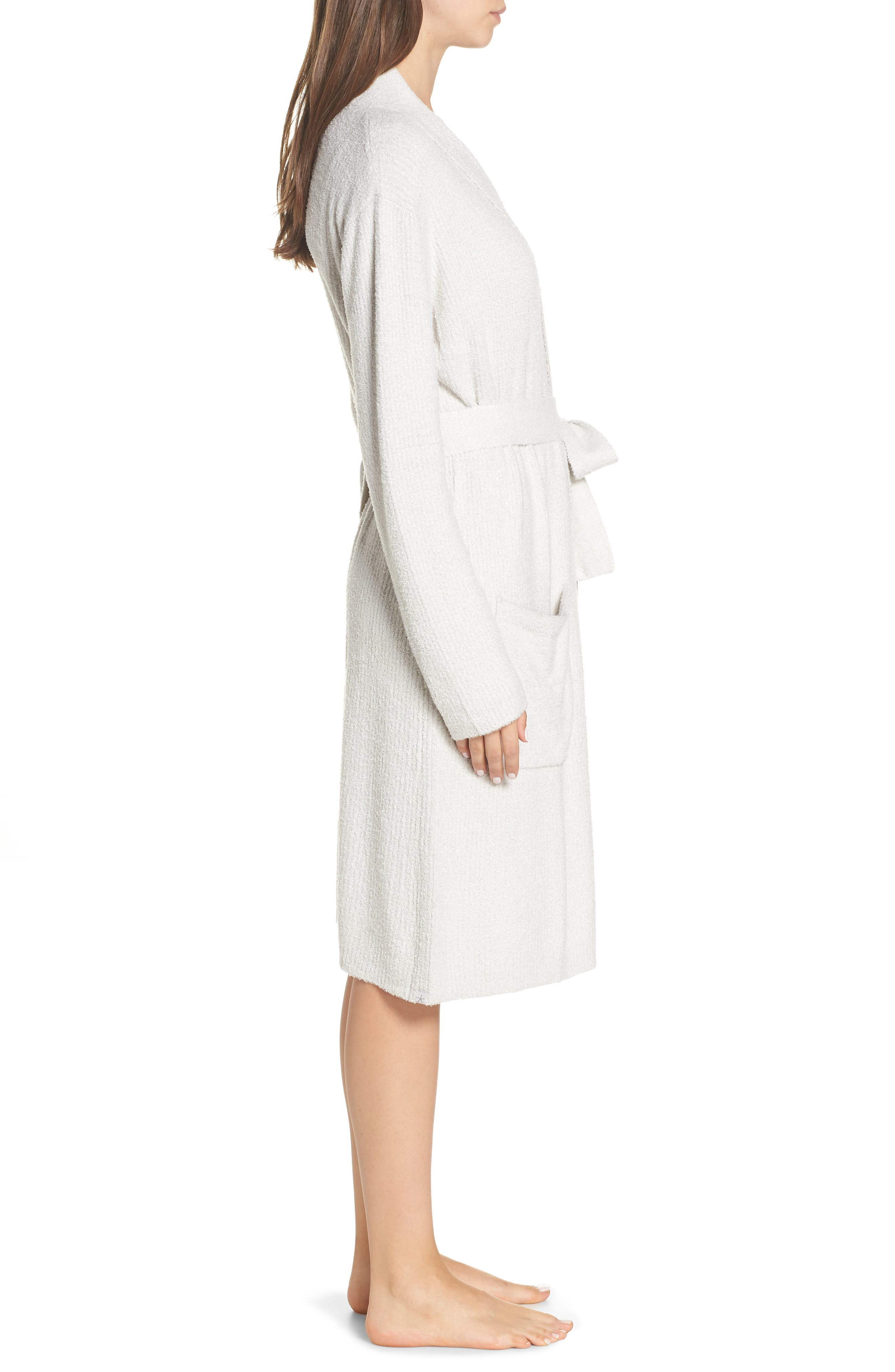 CozyChic<sup>™</sup> Ribbed Robe,                             Alternate thumbnail 3, color,                             SILVER/ PEARL- HE