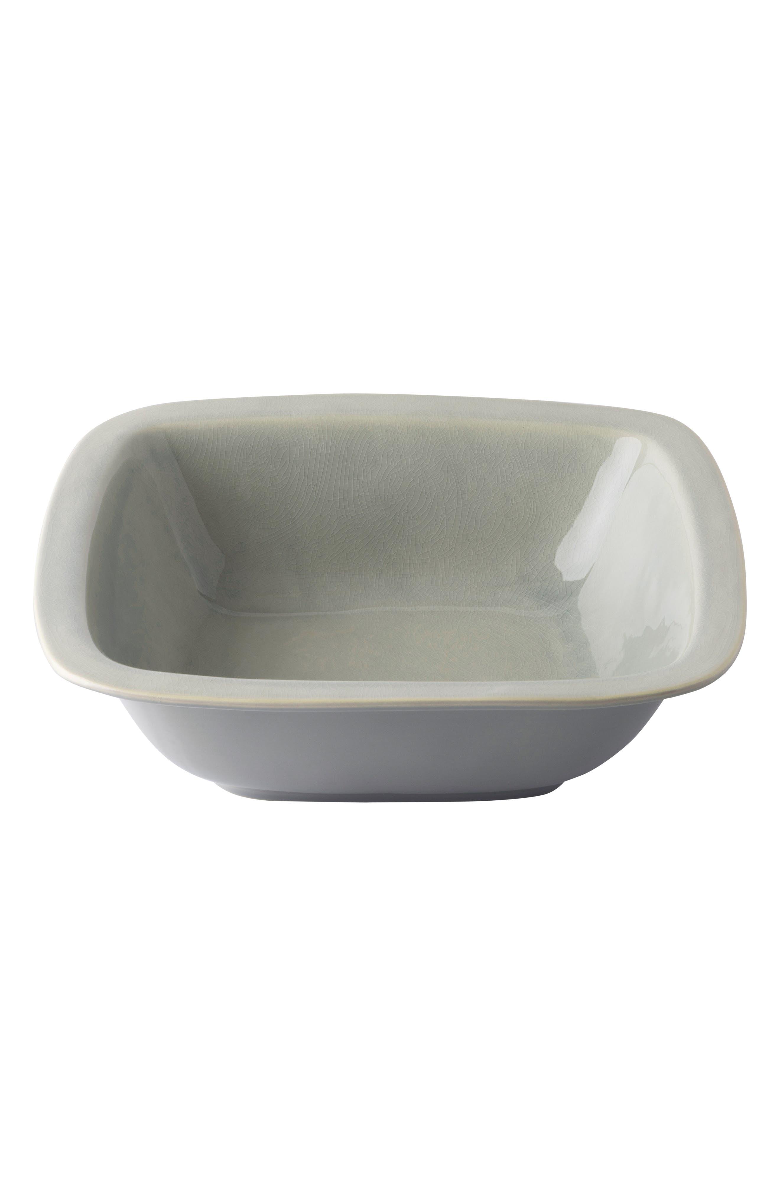 Puro Medium Ceramic Serving Bowl,                         Main,                         color, MIST GREY CRACKLE