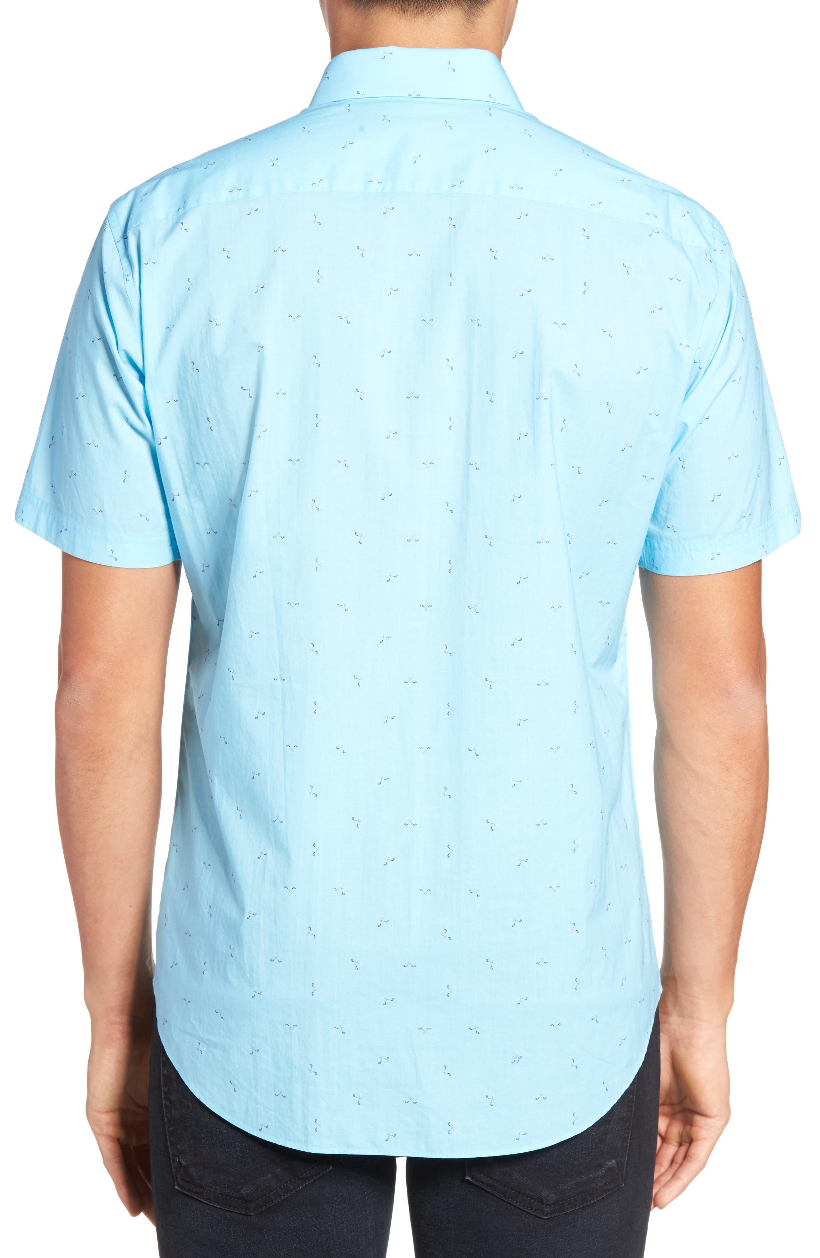 Weinman Regular Fit Print Short Sleeve Sport Shirt,                             Alternate thumbnail 2, color,                             411