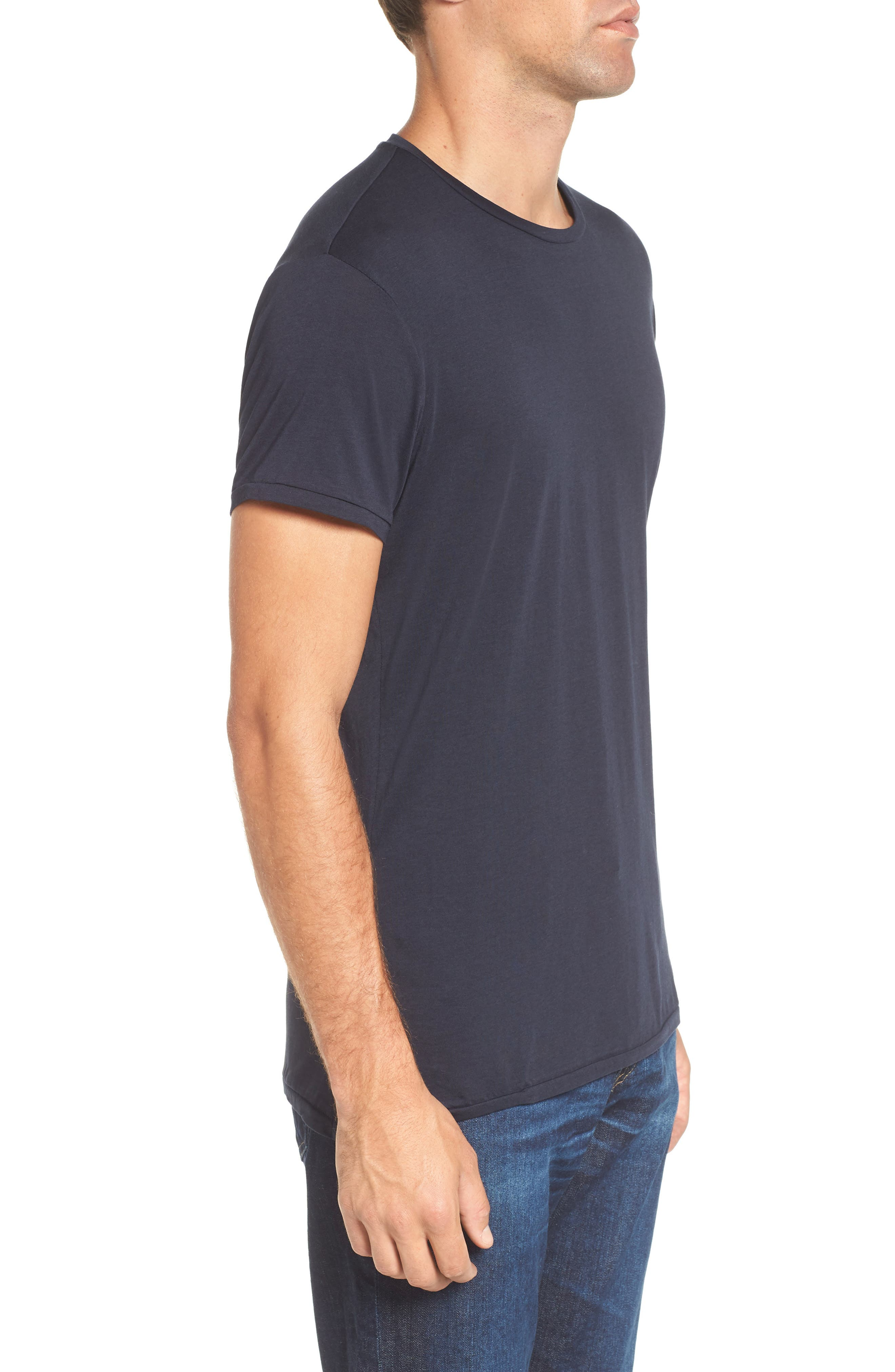 Chic Crewneck T-Shirt,                             Alternate thumbnail 3, color,                             401