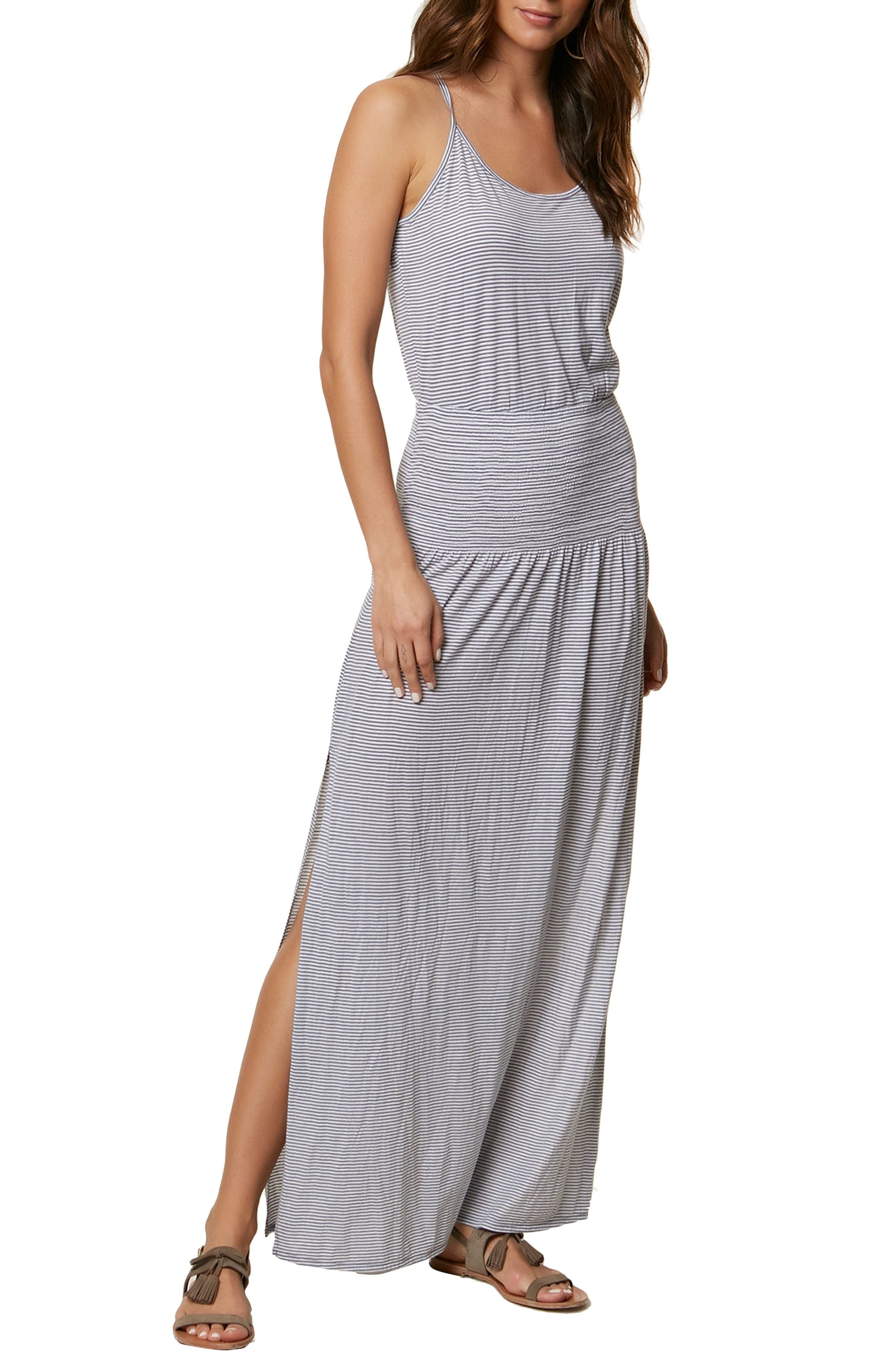 Gwen Stripe Knit Maxi Dress,                             Main thumbnail 1, color,                             FLINTSTONE