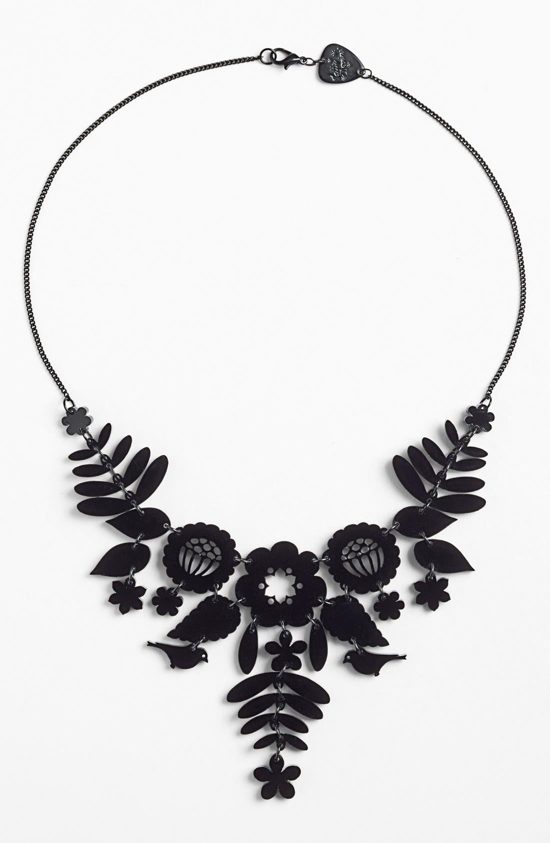 'Mexican Embroidery' Statement Necklace,                             Main thumbnail 1, color,                             001