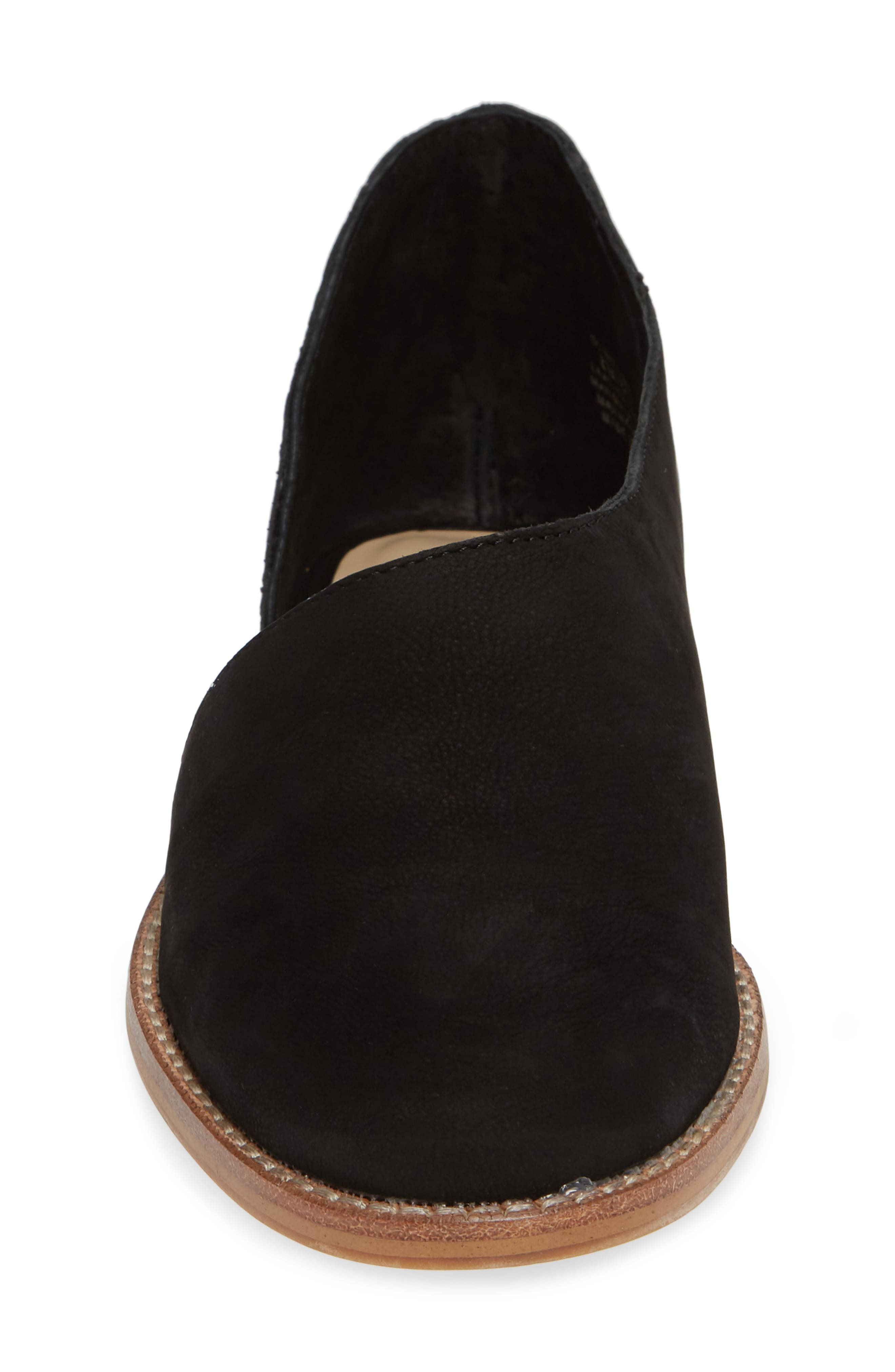 Betianne Flat,                             Alternate thumbnail 4, color,                             BLACK NUBUCK