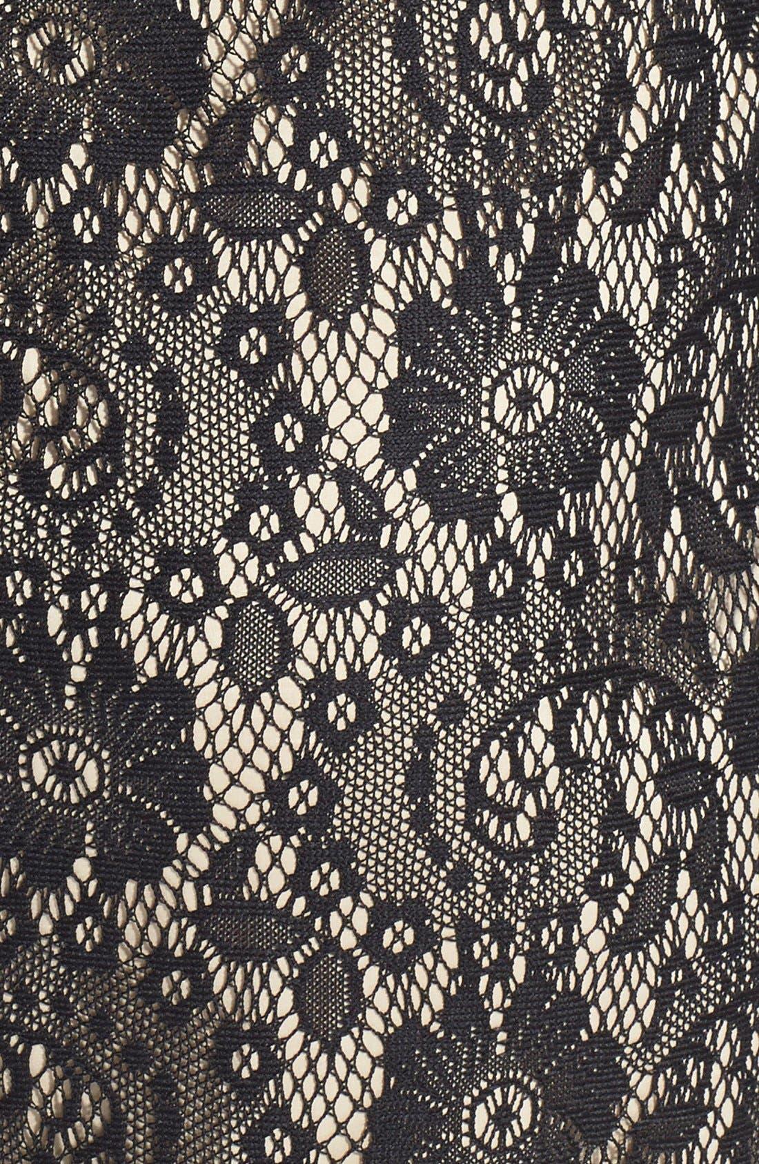 Lace Sheath Dress,                             Alternate thumbnail 6, color,                             001