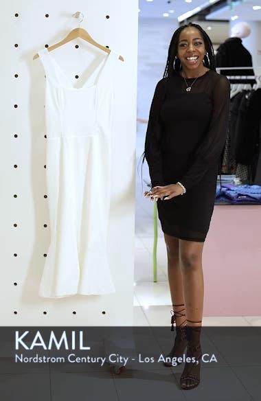 Monica Tea Length Trumpet Dress, sales video thumbnail