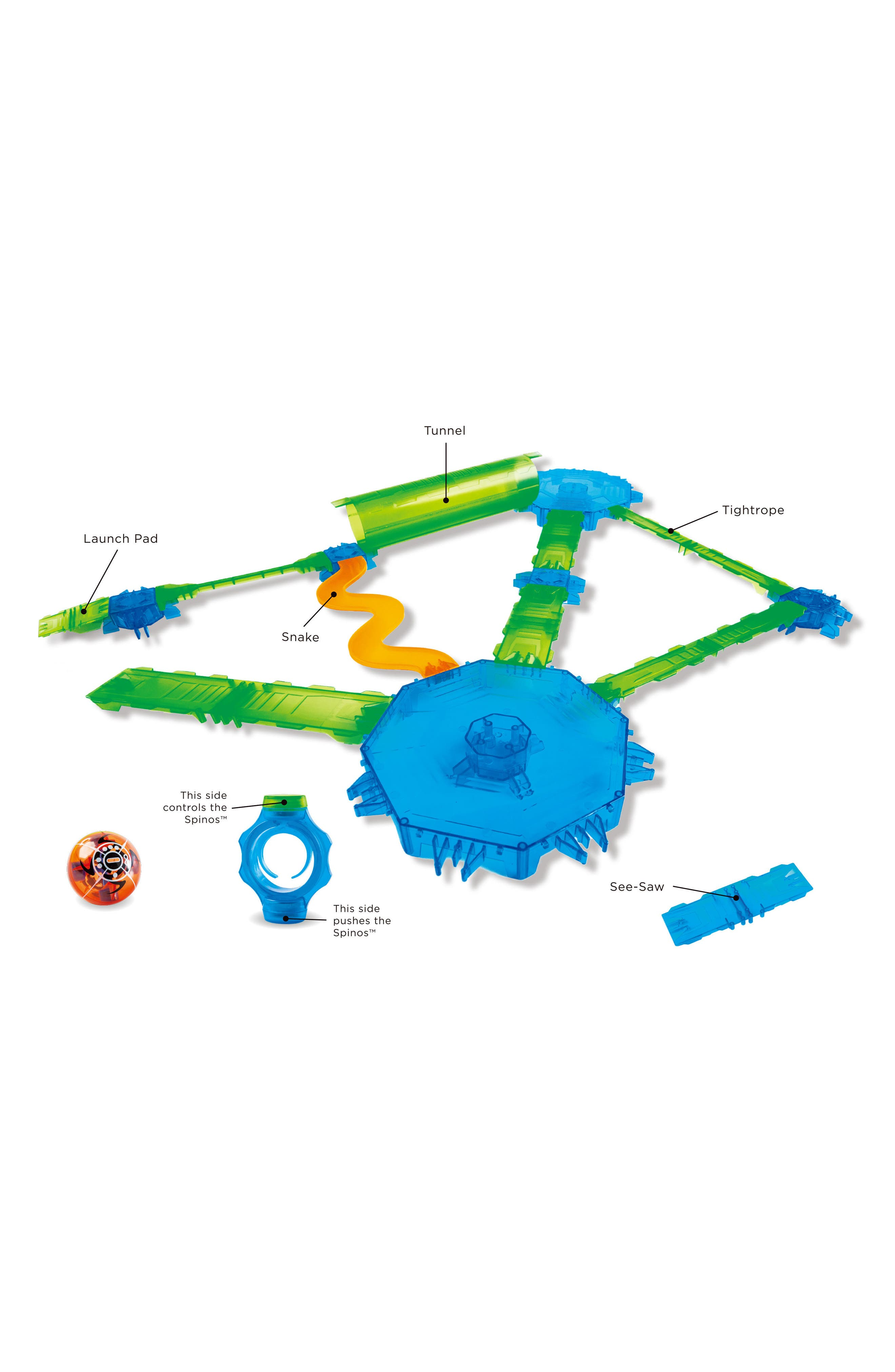 Spinos Mega Trax Challenge 19-Piece Magnetic Toy,                             Alternate thumbnail 3, color,