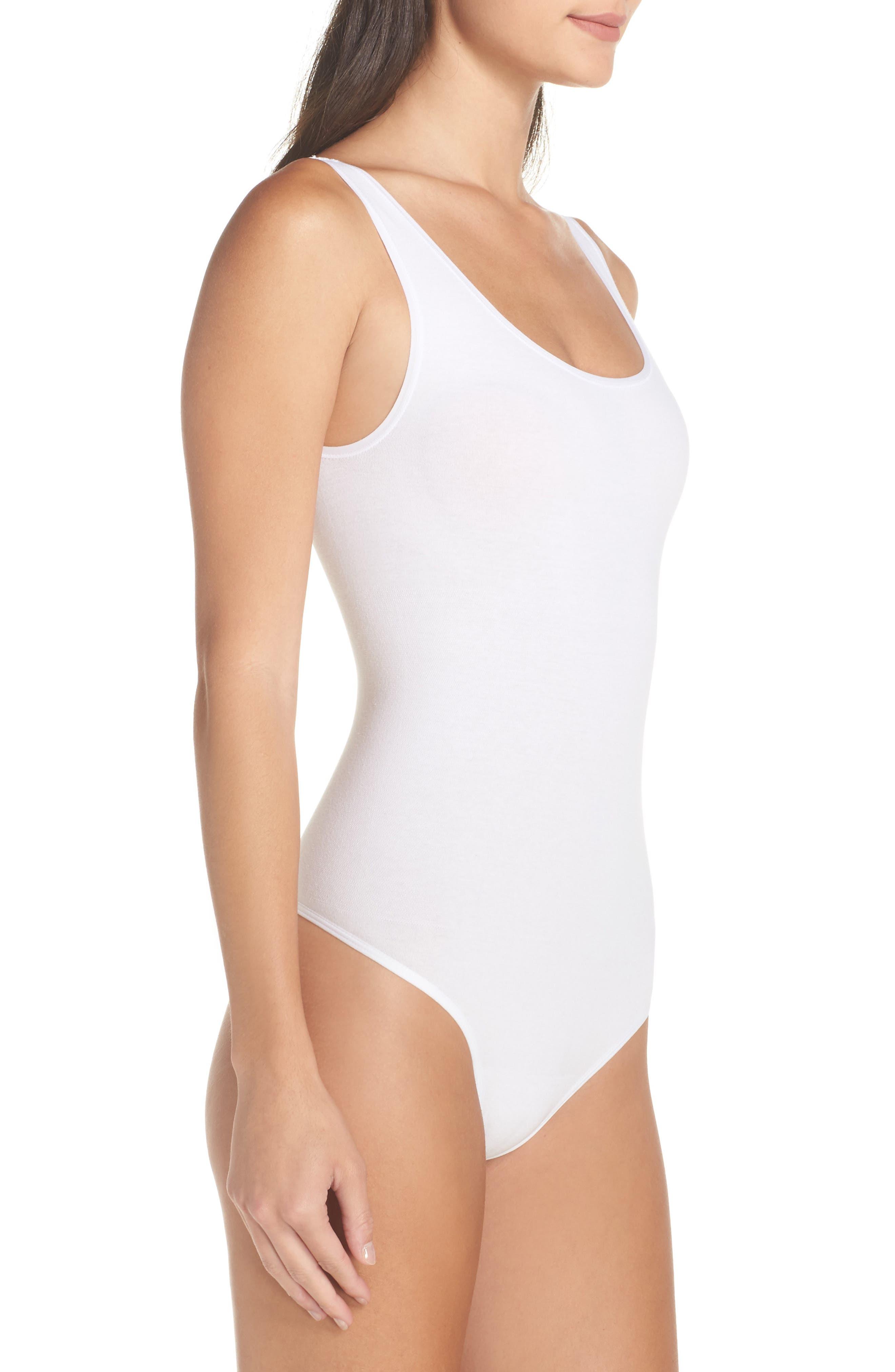 Ruby Thong Bodysuit,                             Alternate thumbnail 3, color,                             WHITE
