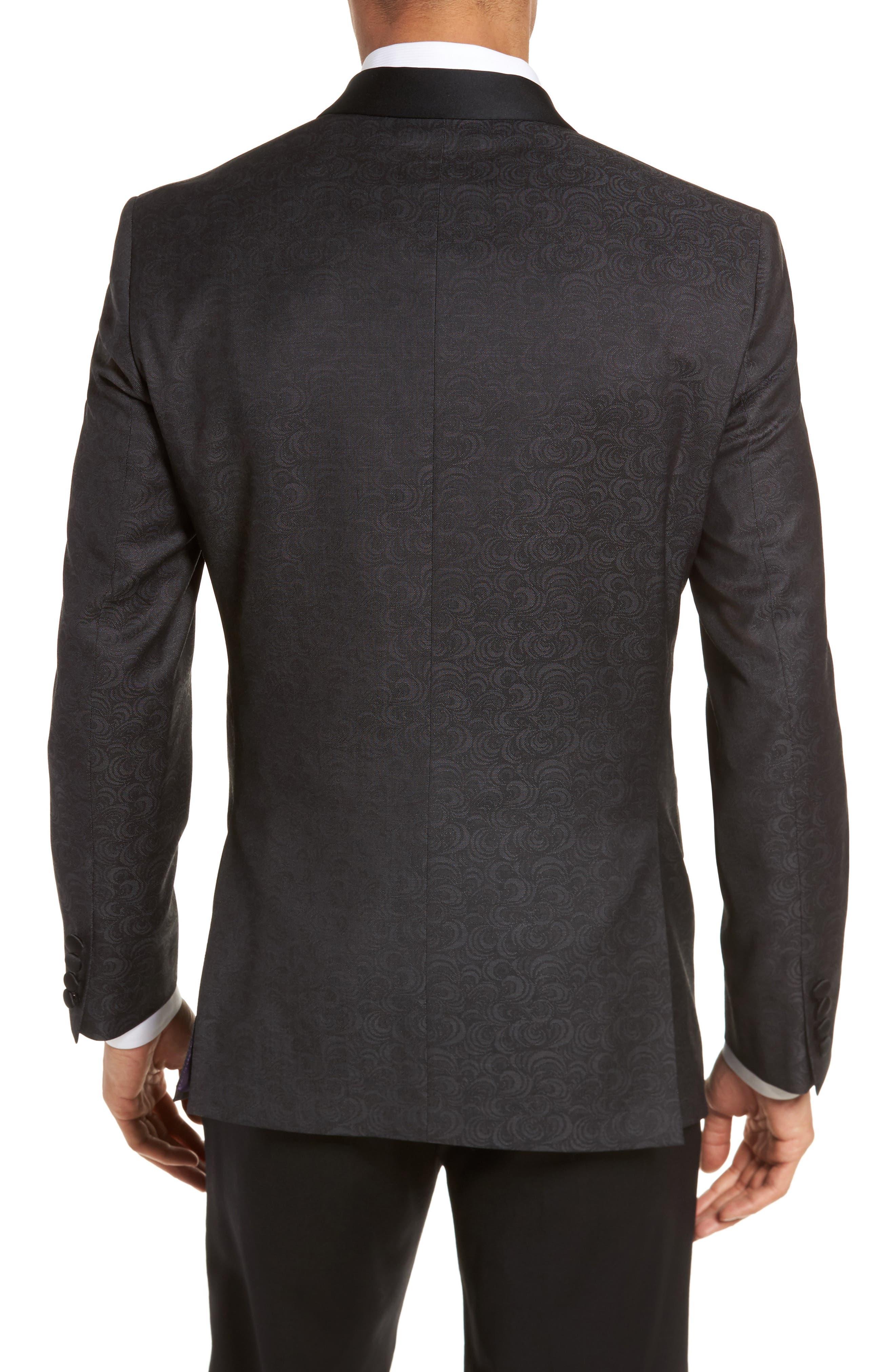 Josh Trim Fit Wool Dinner Jacket,                             Alternate thumbnail 2, color,                             001