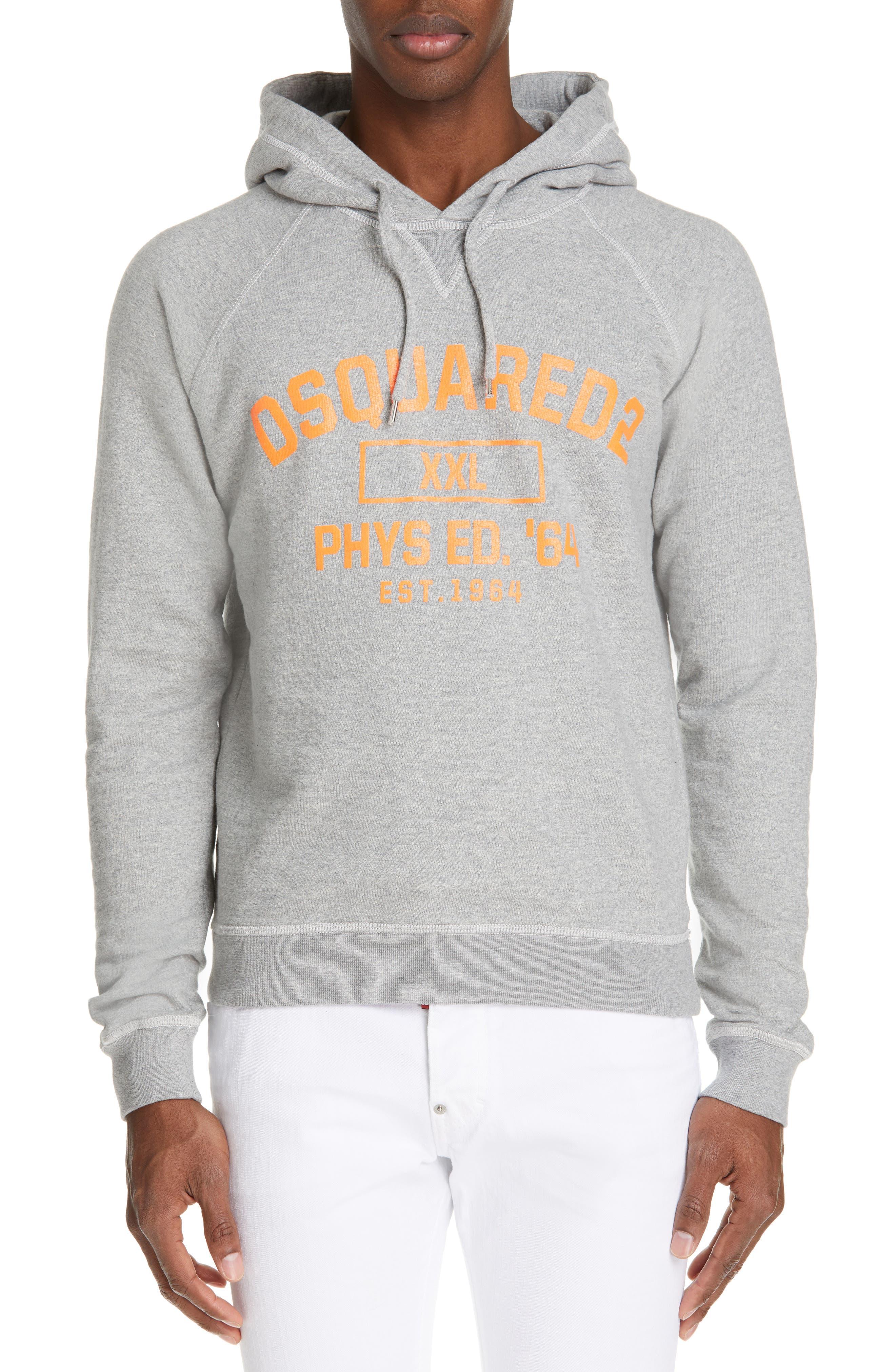 Dsquared2 Varsity Logo Hooded Sweatshirt, Grey