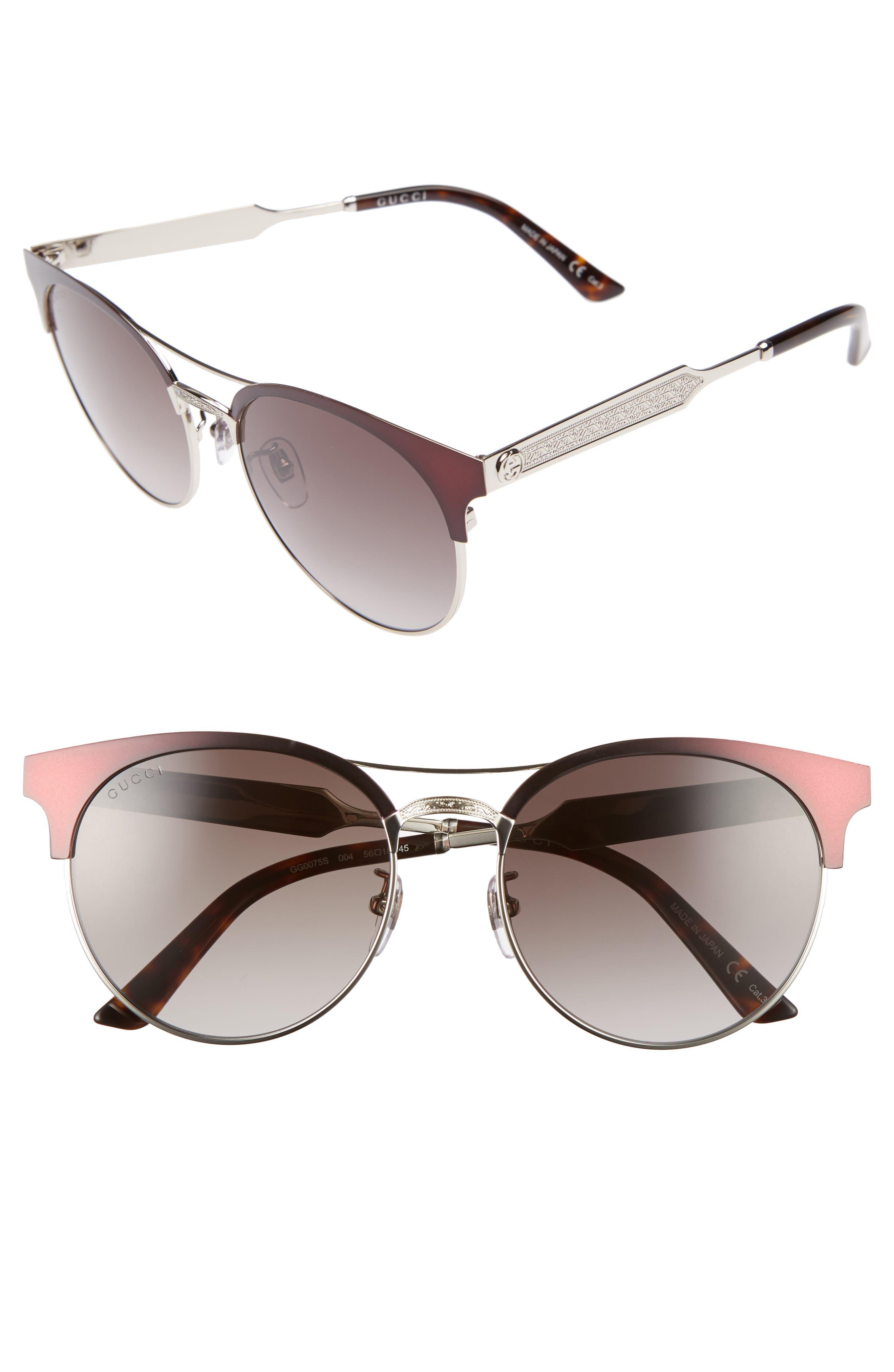 56mm Retro Sunglasses,                             Main thumbnail 3, color,