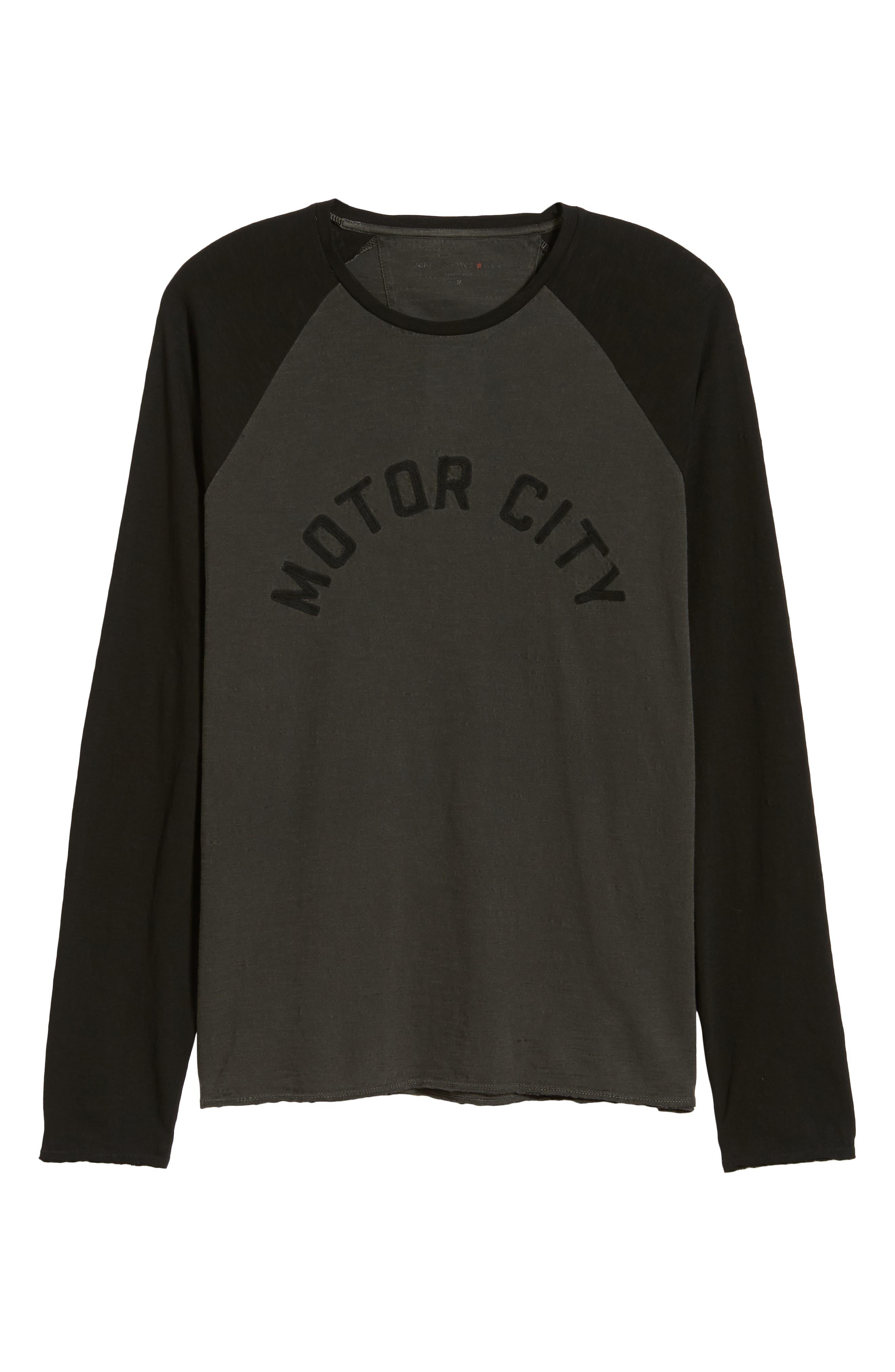 Motor City Long Sleeve T-Shirt,                             Alternate thumbnail 6, color,                             COAL