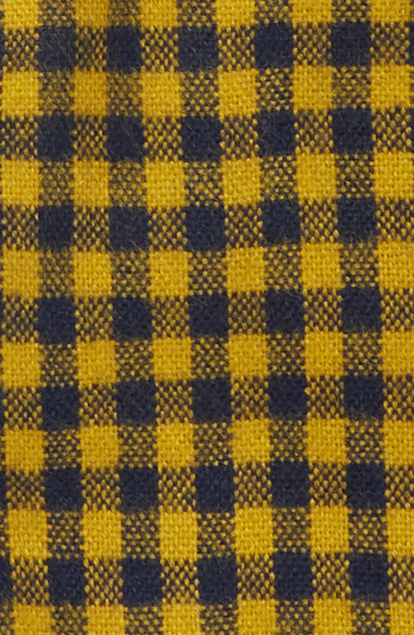Two-Tone Checkered Scarf,                             Alternate thumbnail 3, color,                             YELLOW MULTI