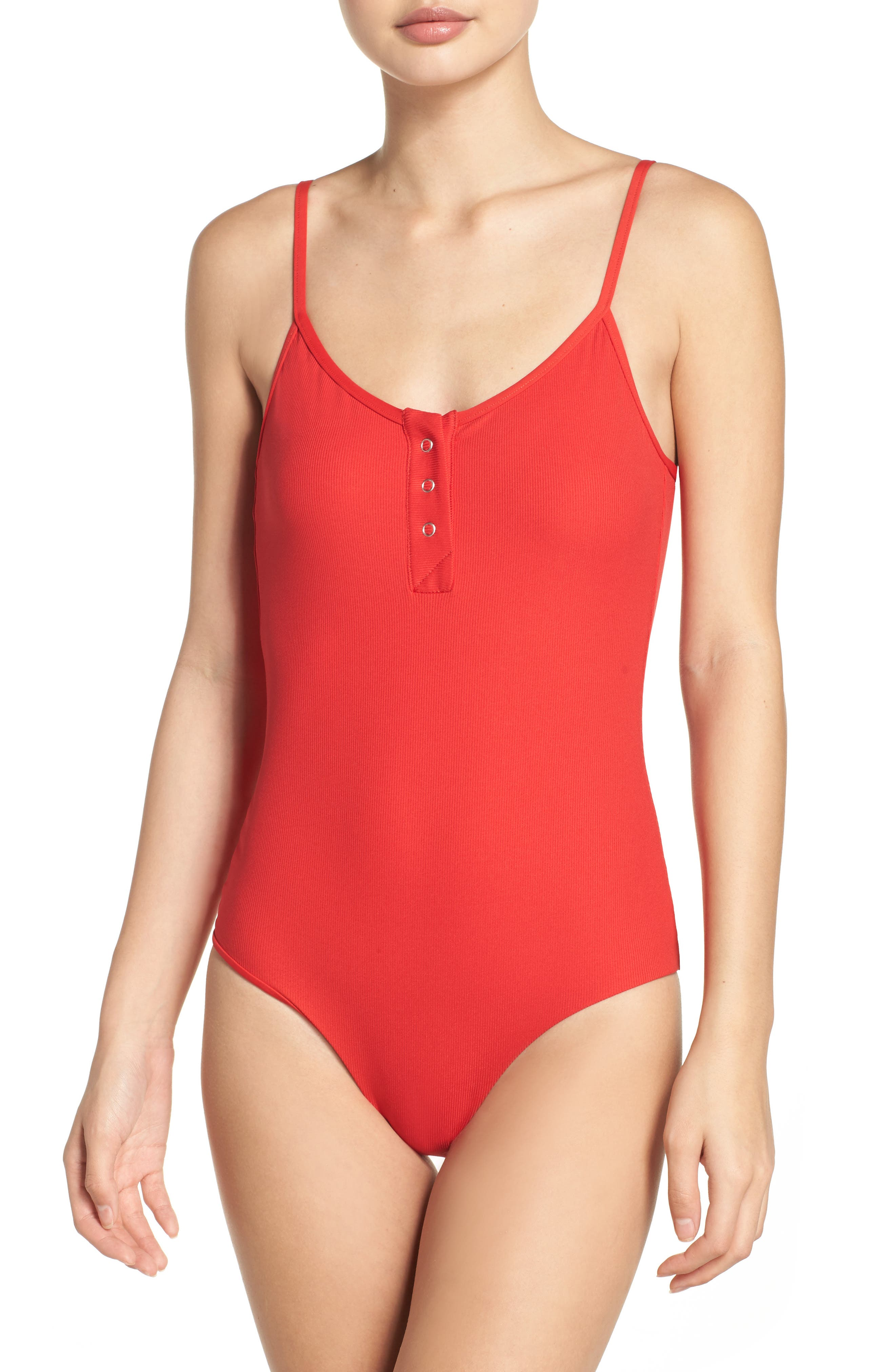 Lila Ribbed One-Piece Swimsuit,                             Main thumbnail 2, color,