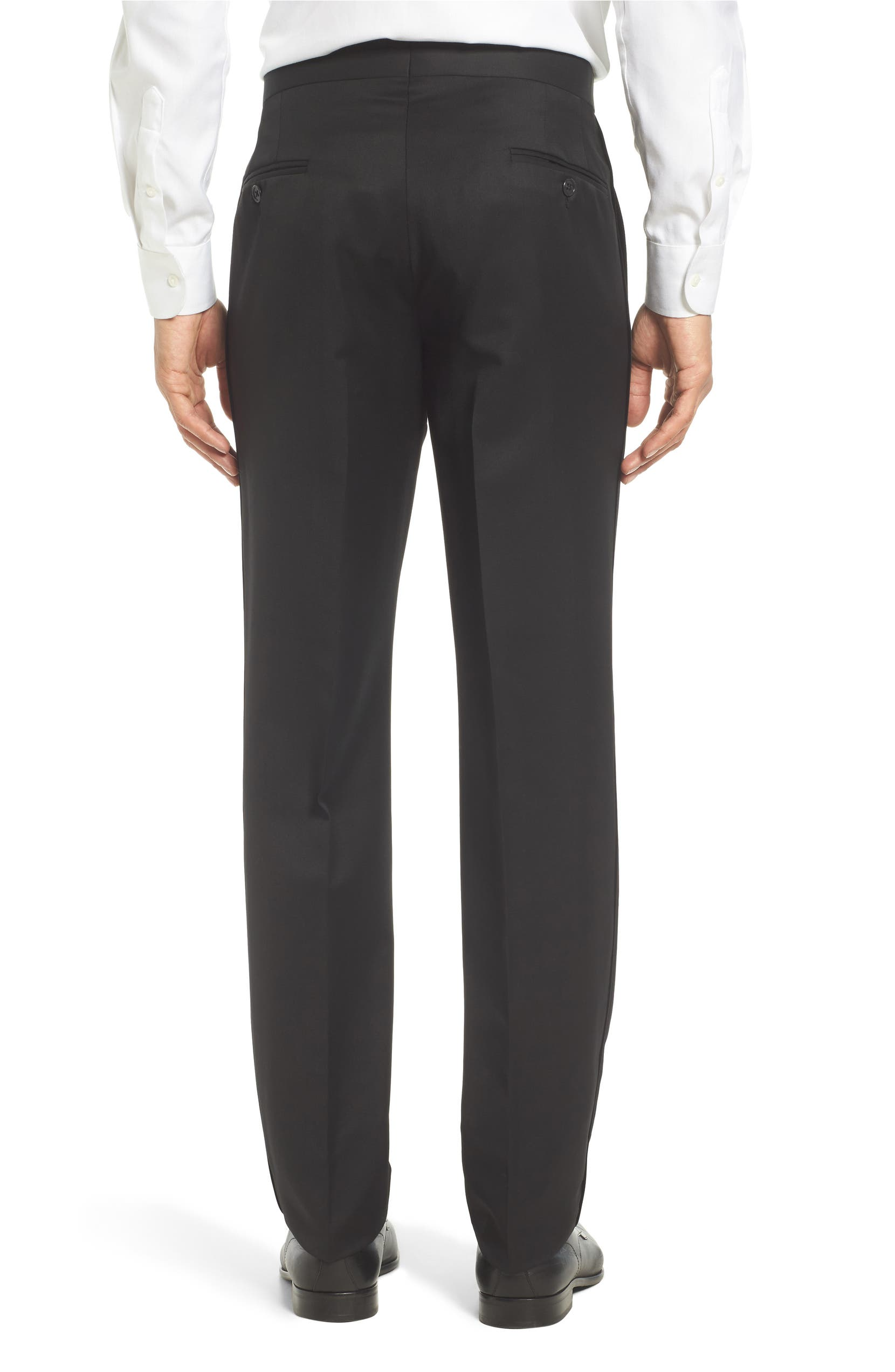 1294a675a03340 Ted Baker London Josh Flat Front Wool & Mohair Tuxedo Pants | Nordstrom