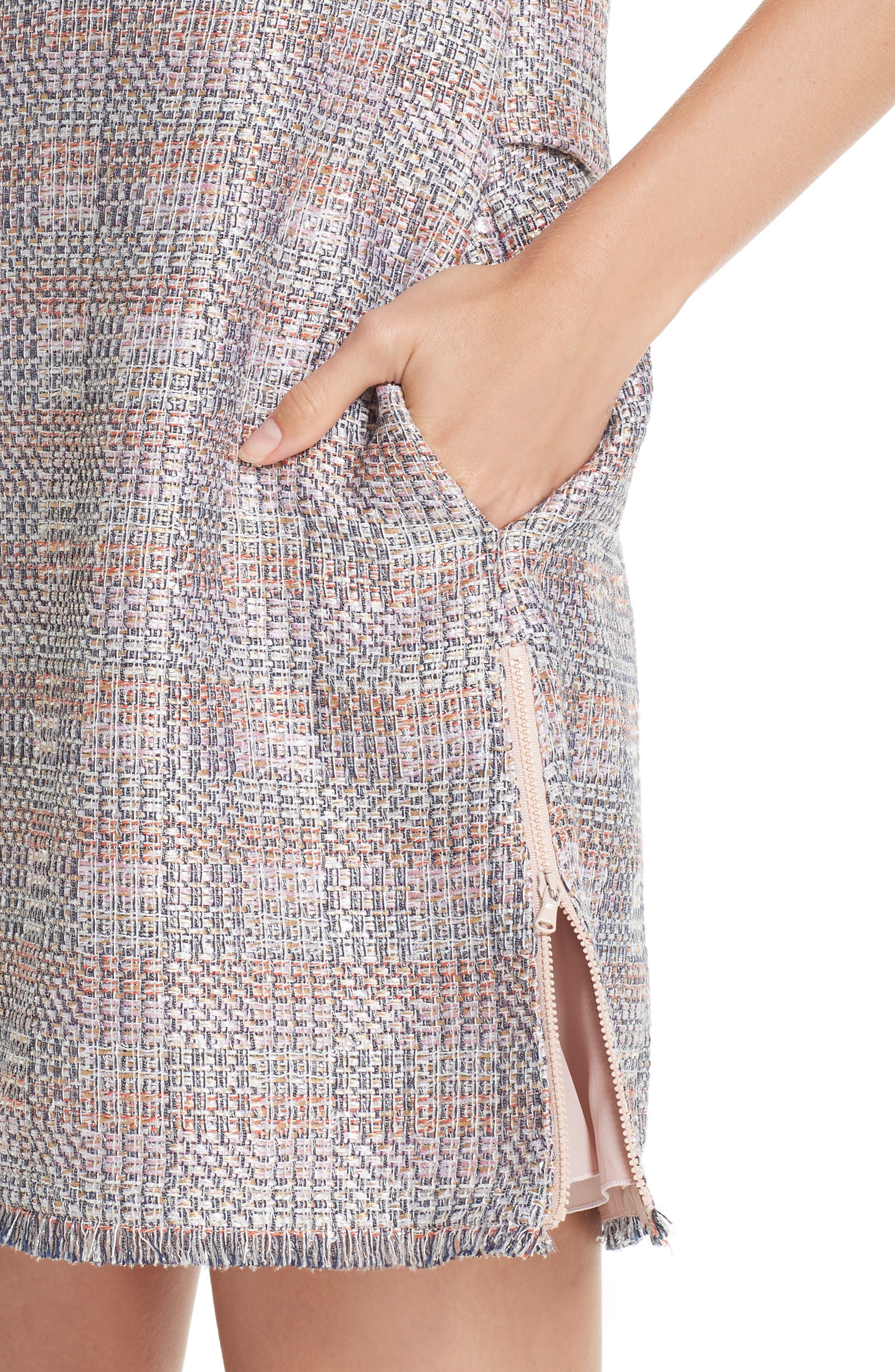 Check Woven Dress,                             Alternate thumbnail 4, color,                             MULTICOLOR
