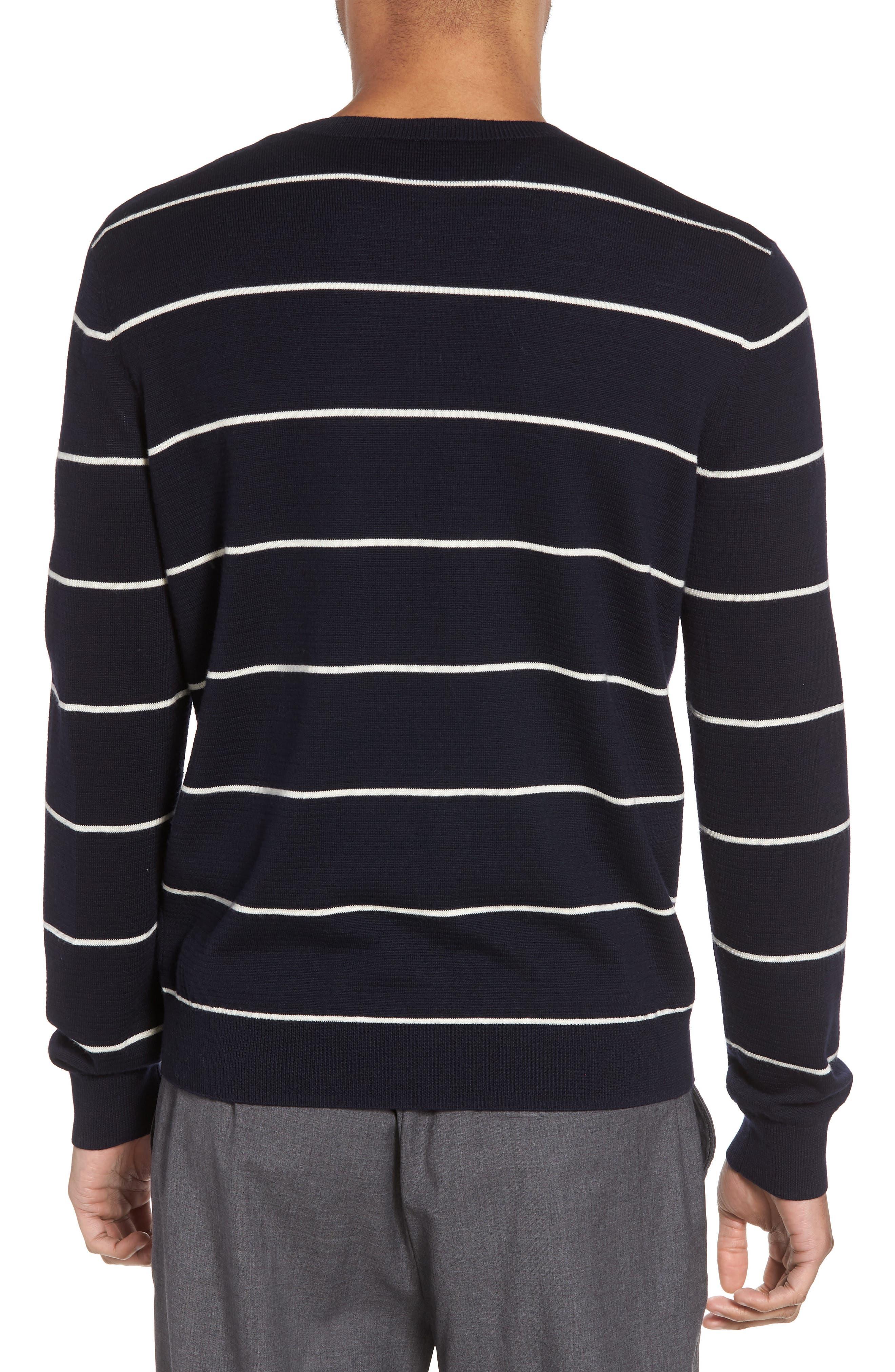 Slim Fit Stripe Crewneck Sweater,                             Alternate thumbnail 2, color,                             477