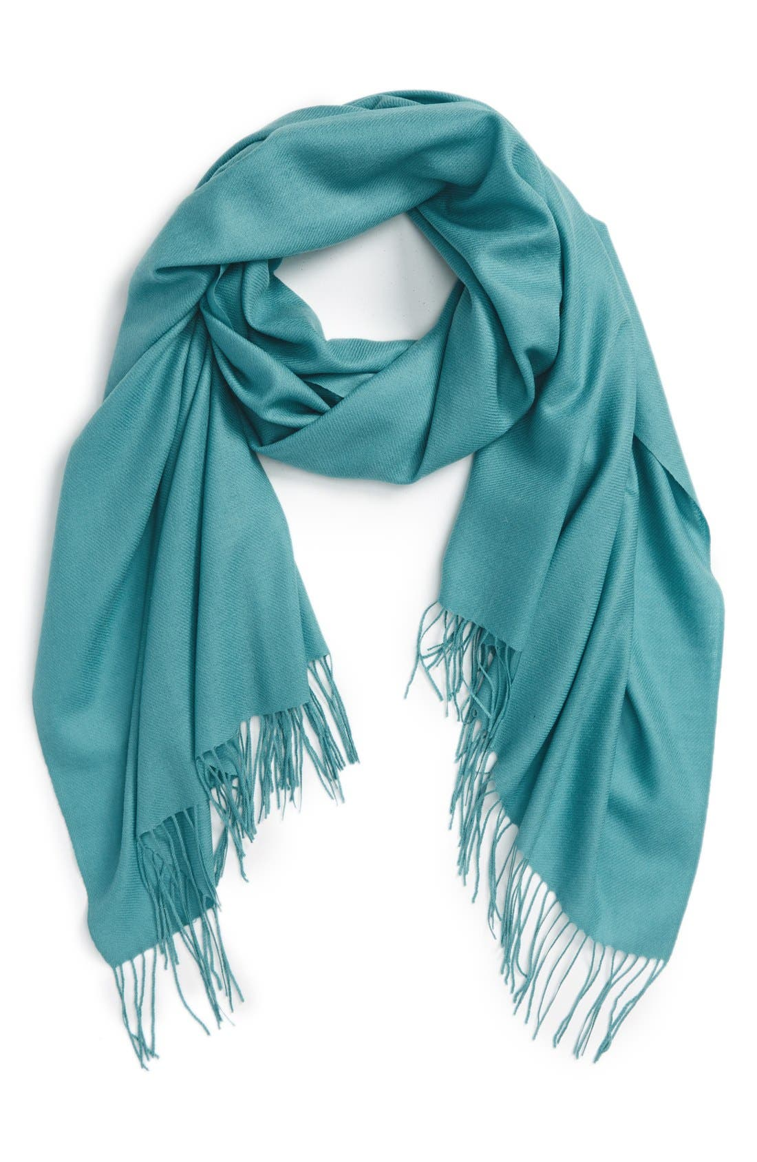 Tissue Weight Wool & Cashmere Scarf,                             Main thumbnail 36, color,