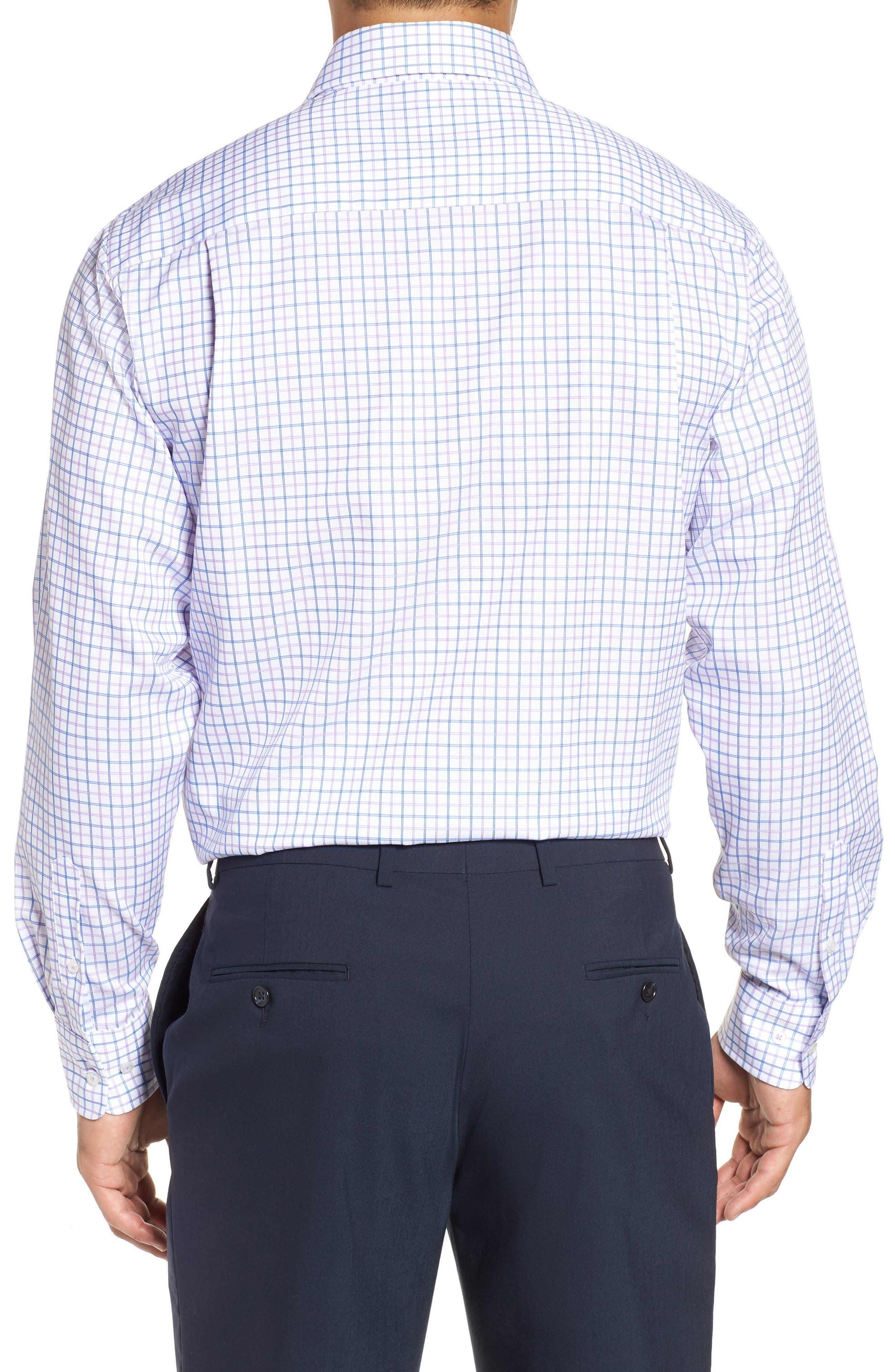 Regular Fit Check Dress Shirt,                             Alternate thumbnail 3, color,                             534