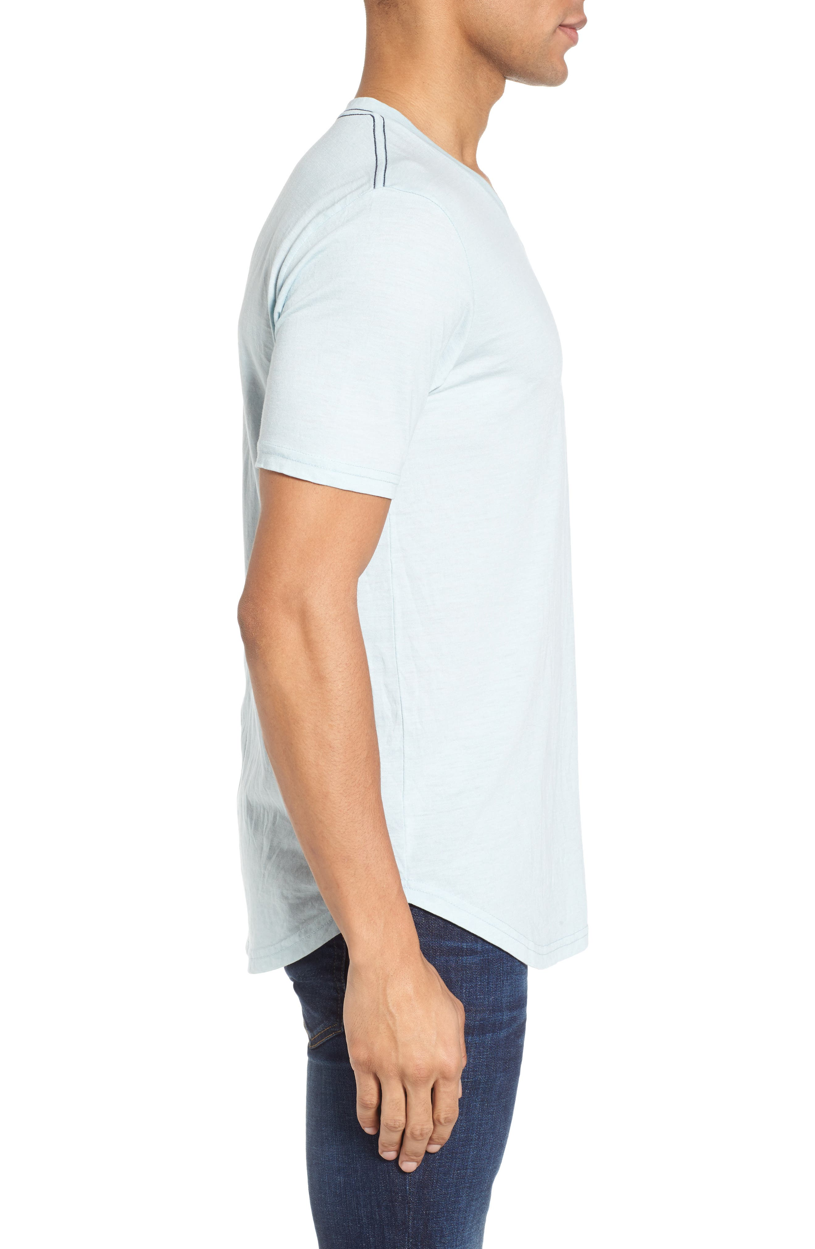 Scallop Triblend V-Neck T-Shirt,                             Alternate thumbnail 53, color,