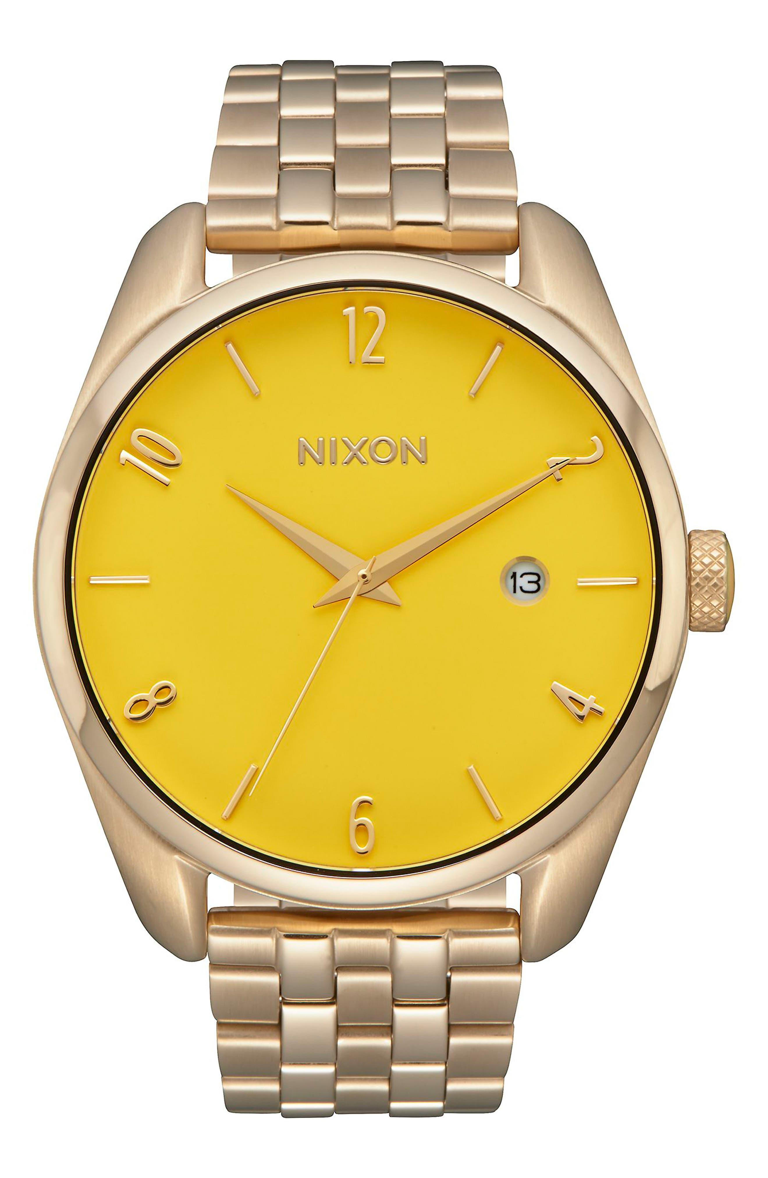 Bullet Bracelet Watch, 38mm,                         Main,                         color, LIGHT GOLD/ YELLOW