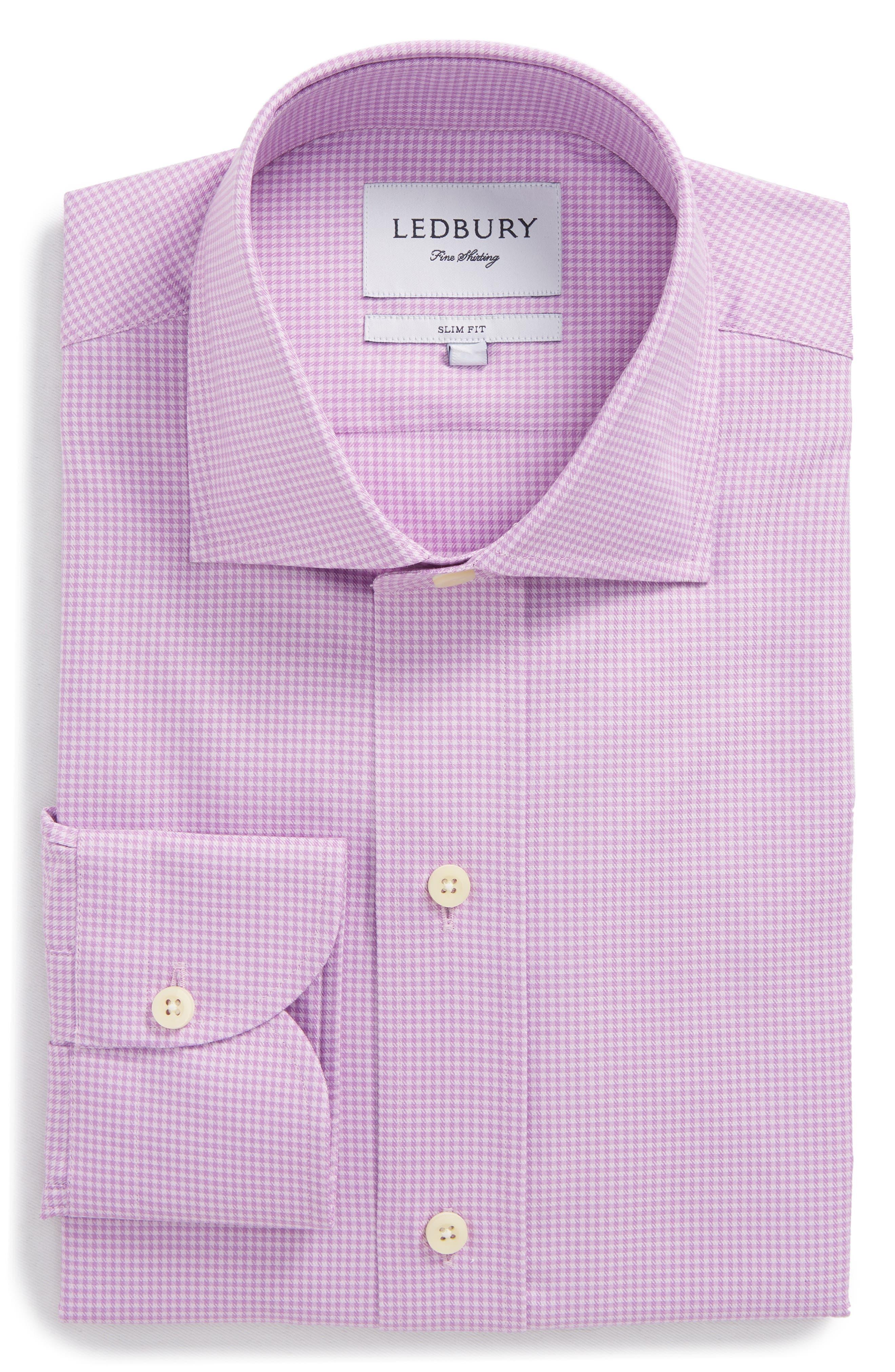 Innis Slim Fit Check Dress Shirt,                             Alternate thumbnail 7, color,